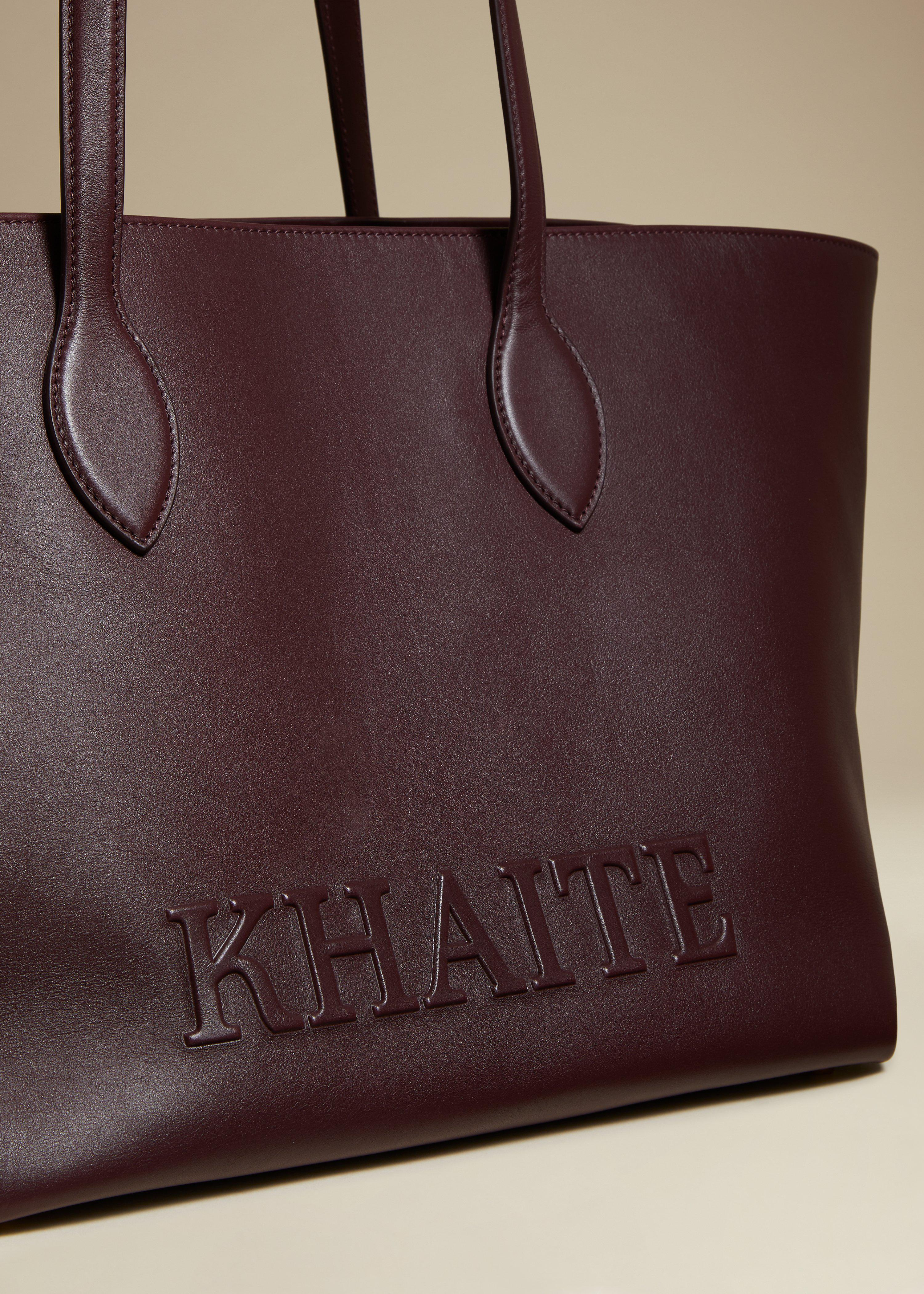 The Florence Tote in Deep Red Leather 2