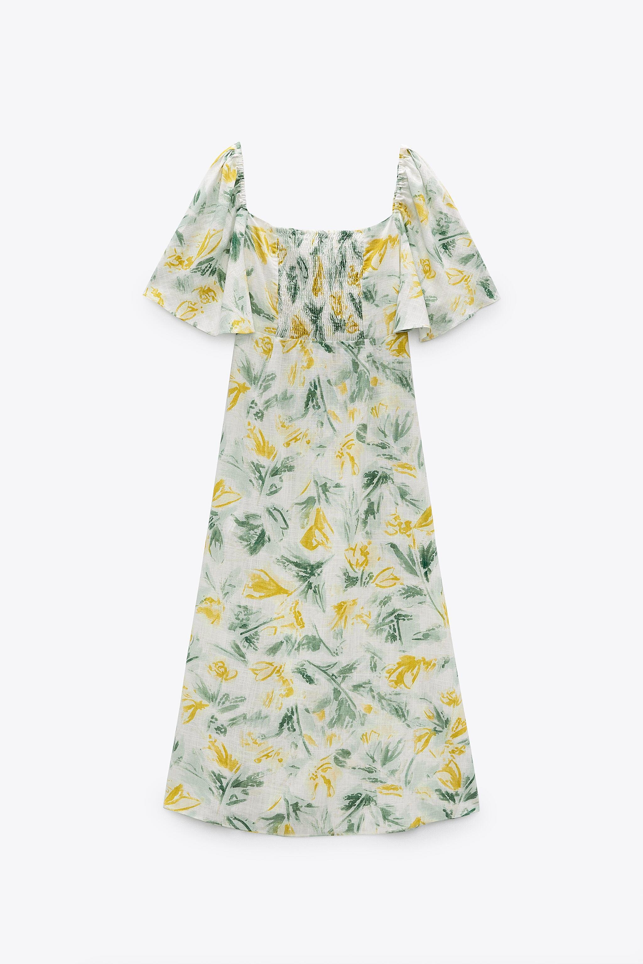 CUT OUT PRINTED DRESS 7