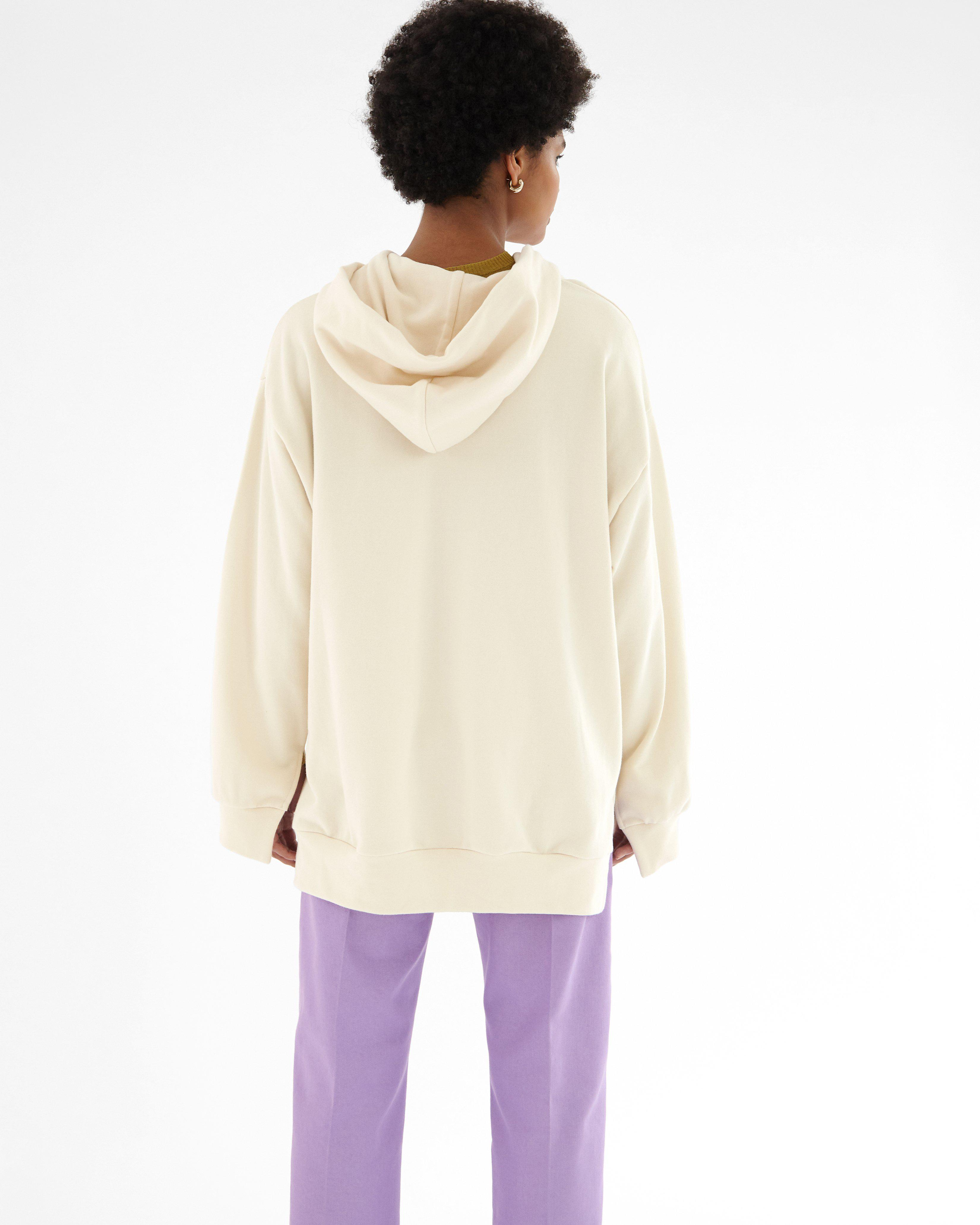 Casey Hoodie Organic French Terry Cotton Ivory 2