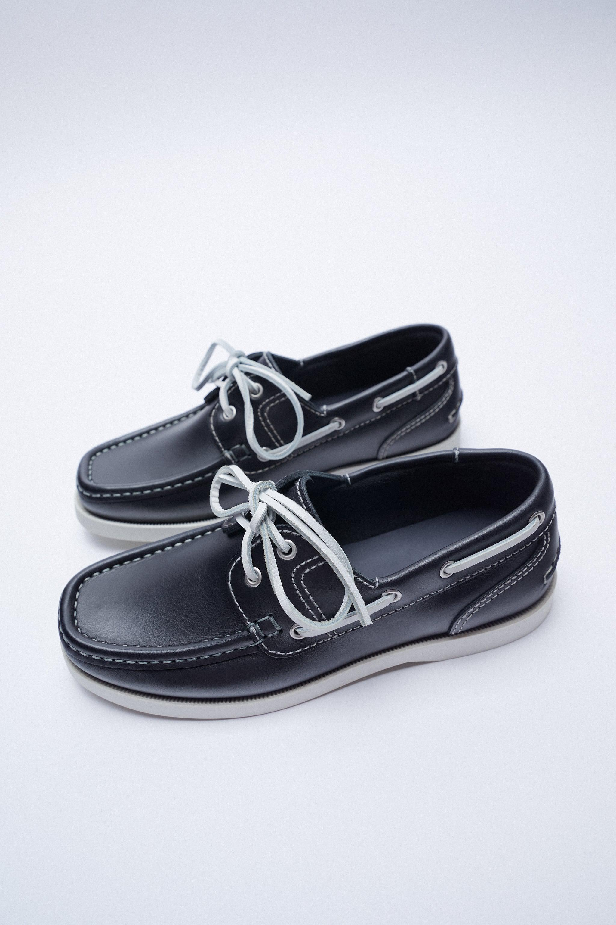 LOW HEEL LEATHER BOAT SHOES 3