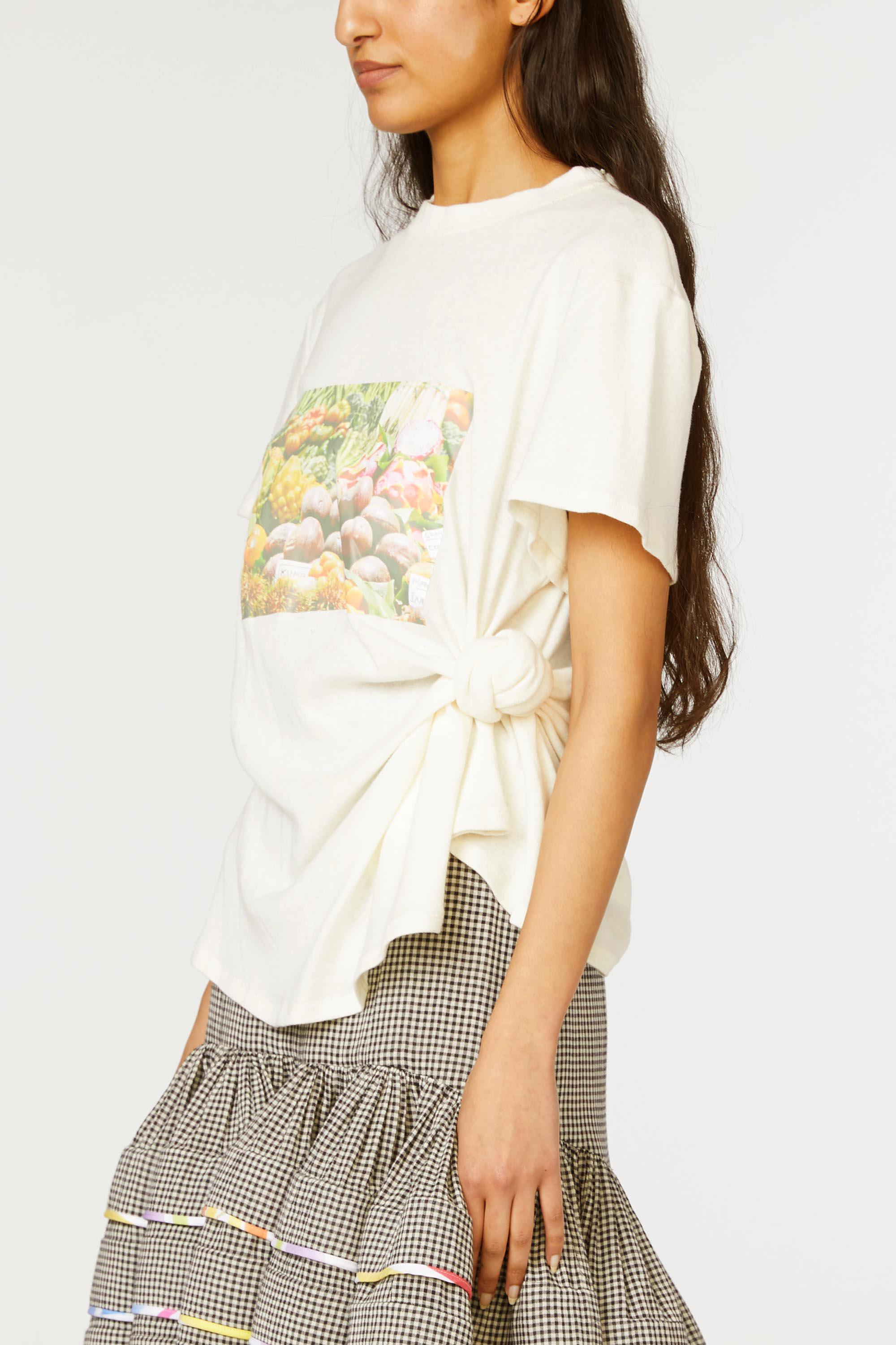 Produce Print Knotted Tee 1