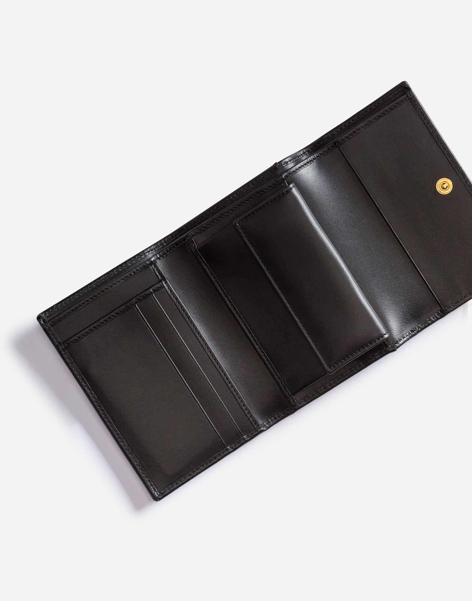 Small calfskin continental wallet with baroque D&G 3