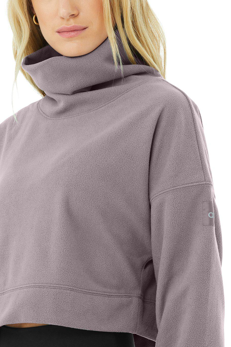 Cropped Warm Up Pullover - Purple Dusk 4