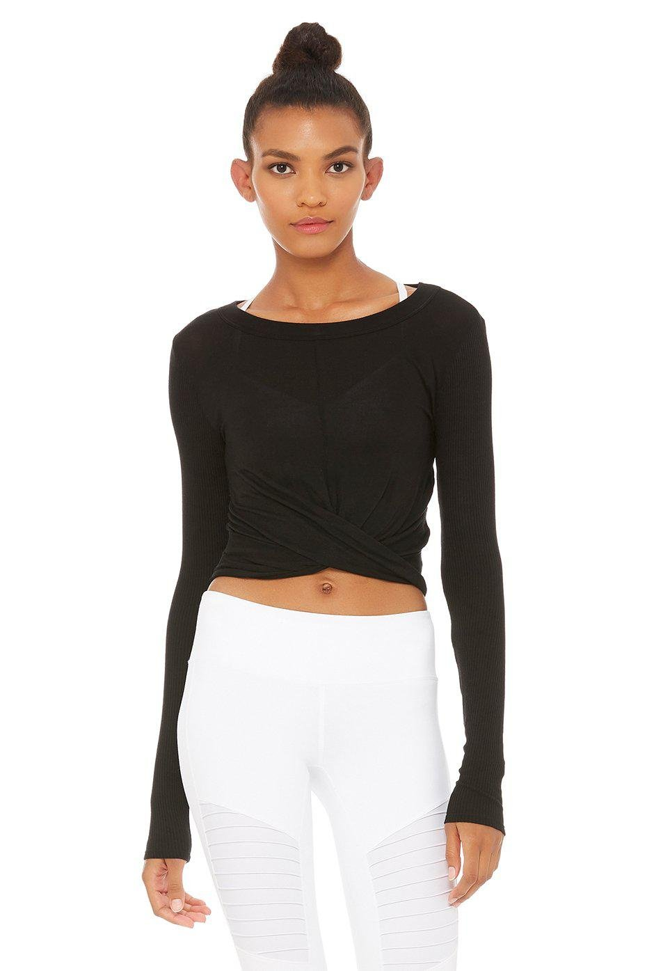 Cover Long Sleeve Top - Black