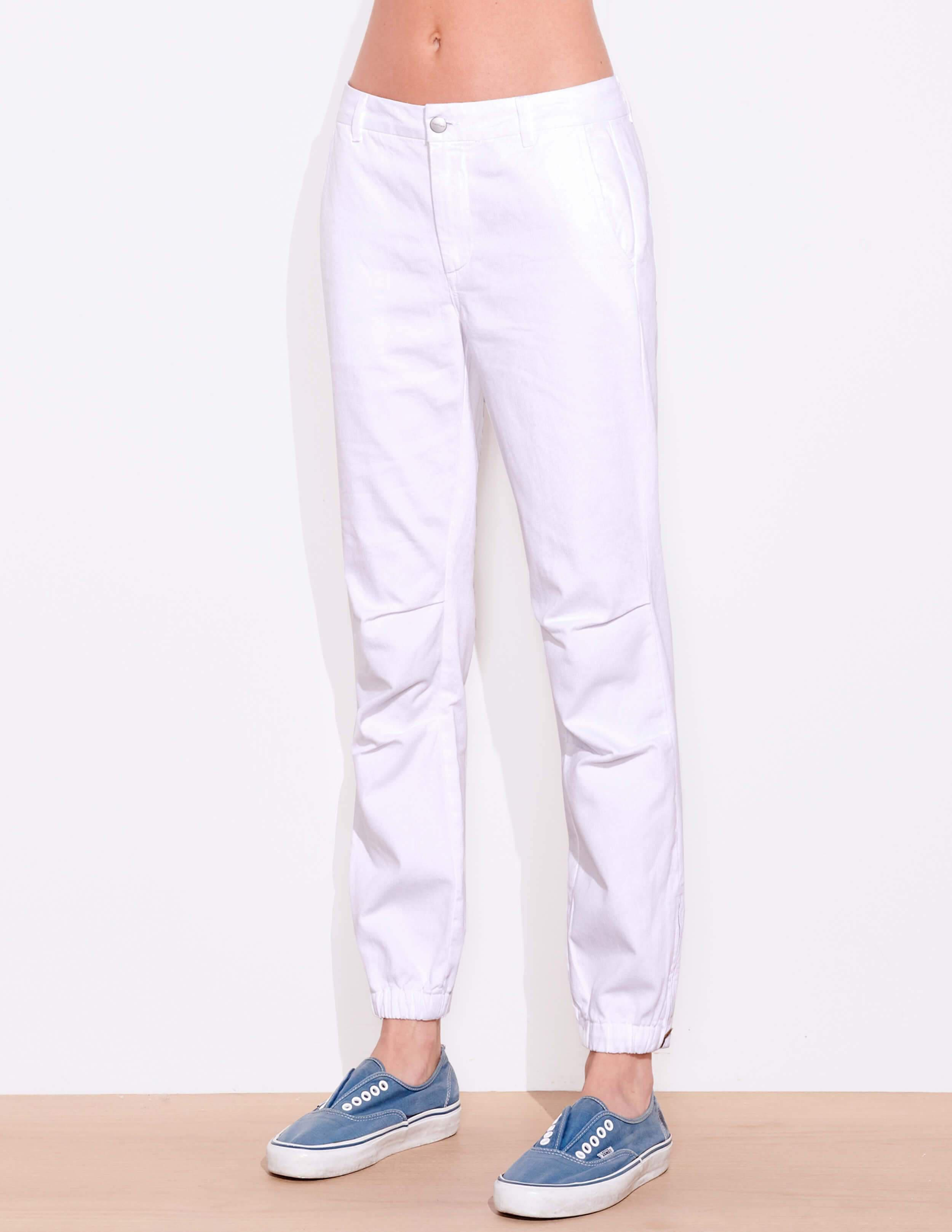 Cotton Twill Pleated Jogger