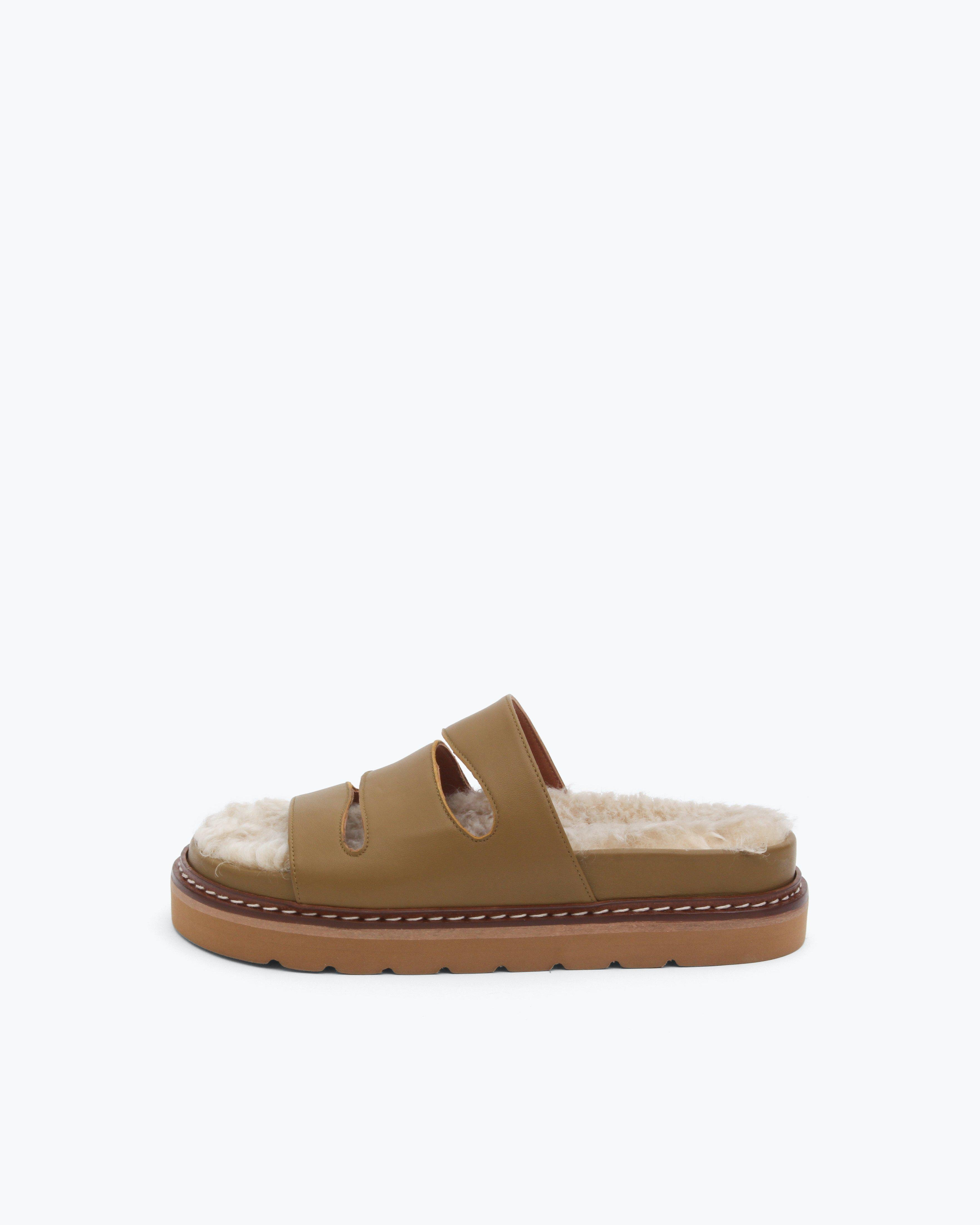 Maggie Sandals Leather Marsh Green