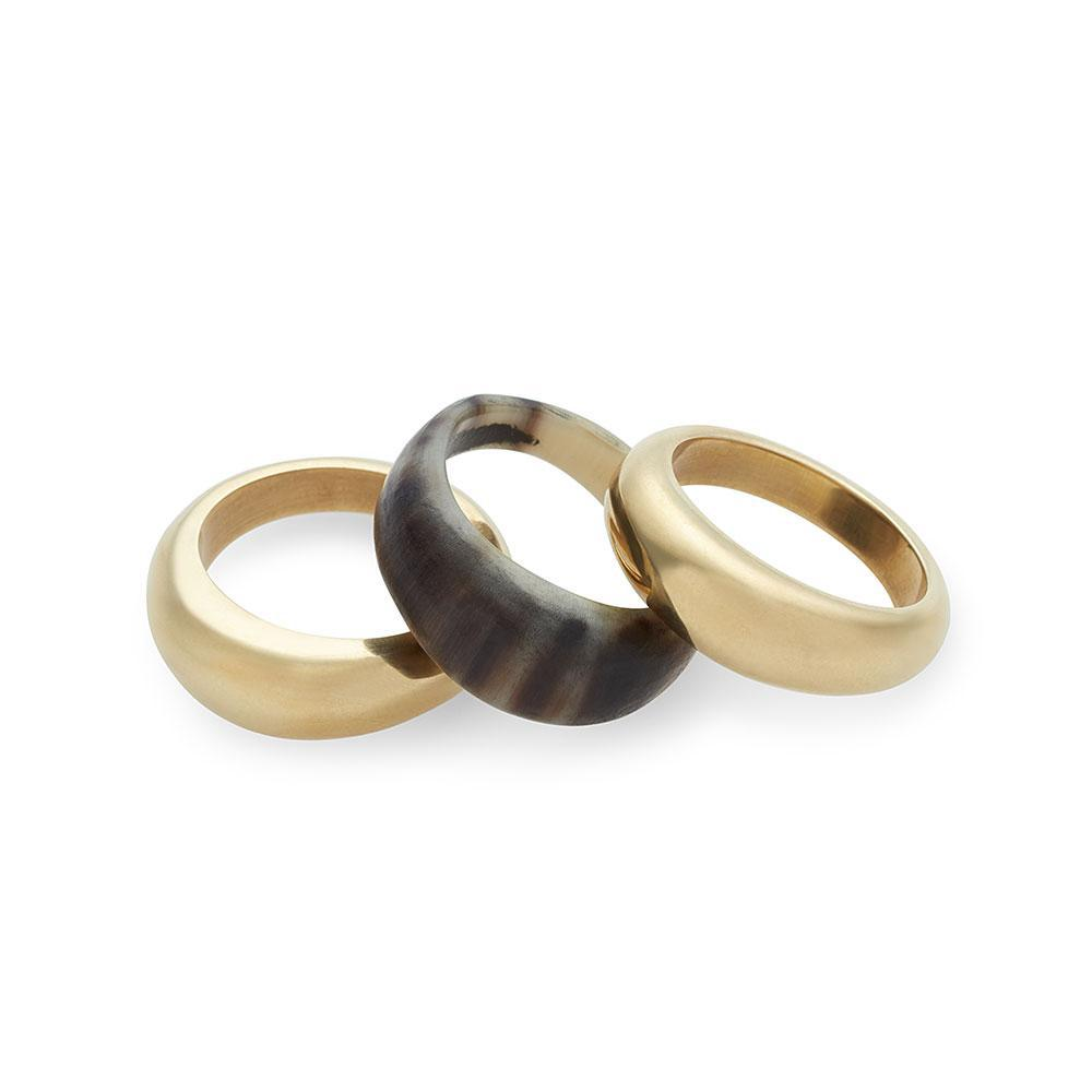 Mixed Material Fanned Ring Stack
