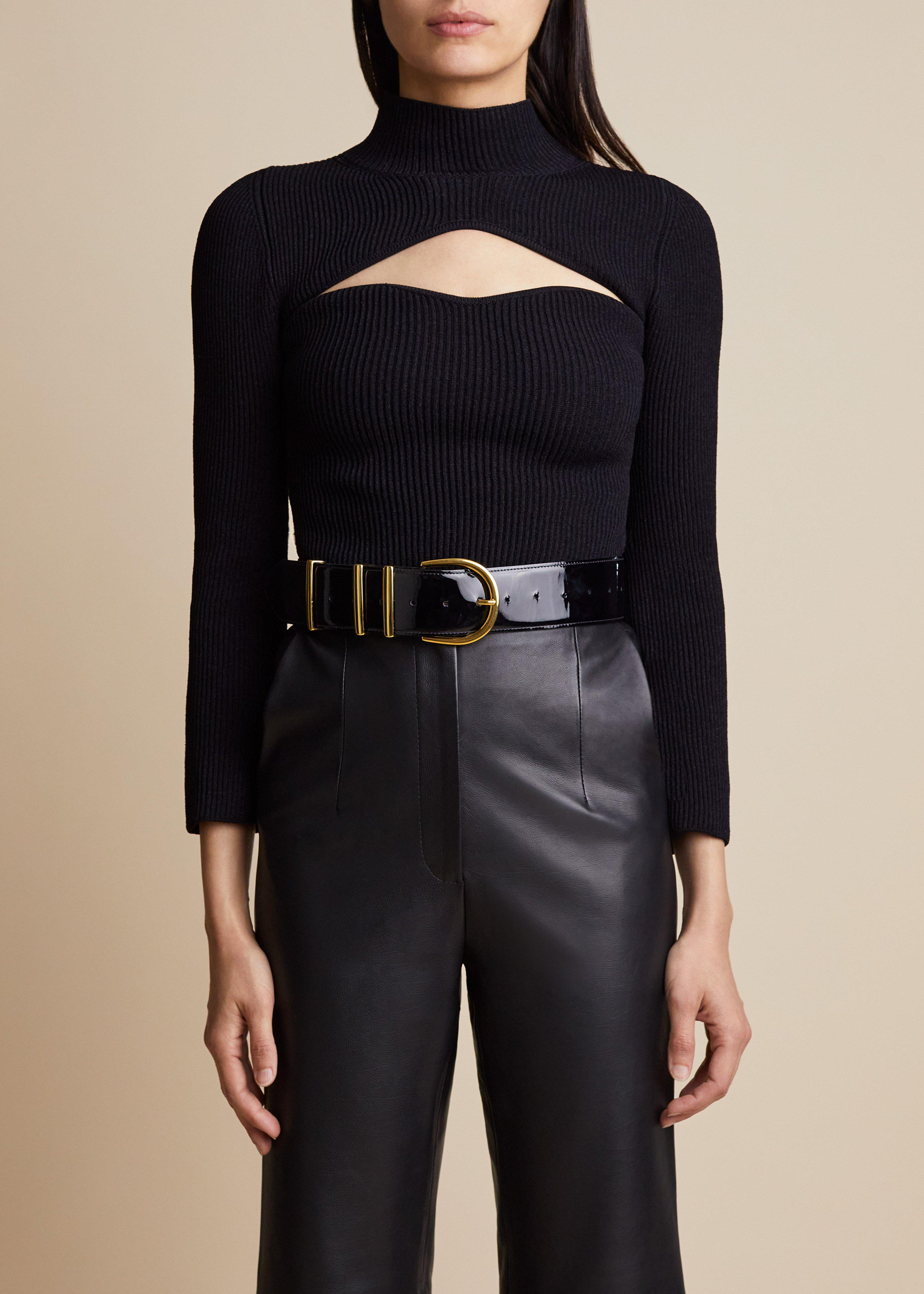 The Angela Top in Black