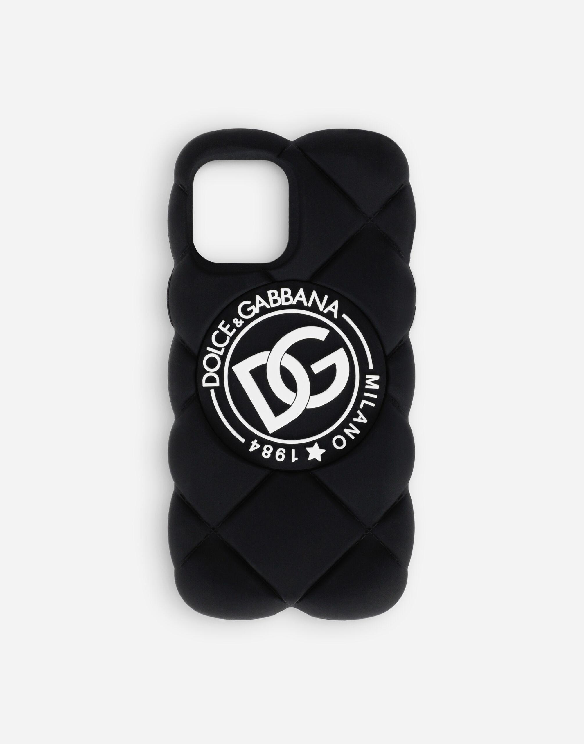 Quilted-effect rubber iPhone 12 Pro Max cover with DG logo