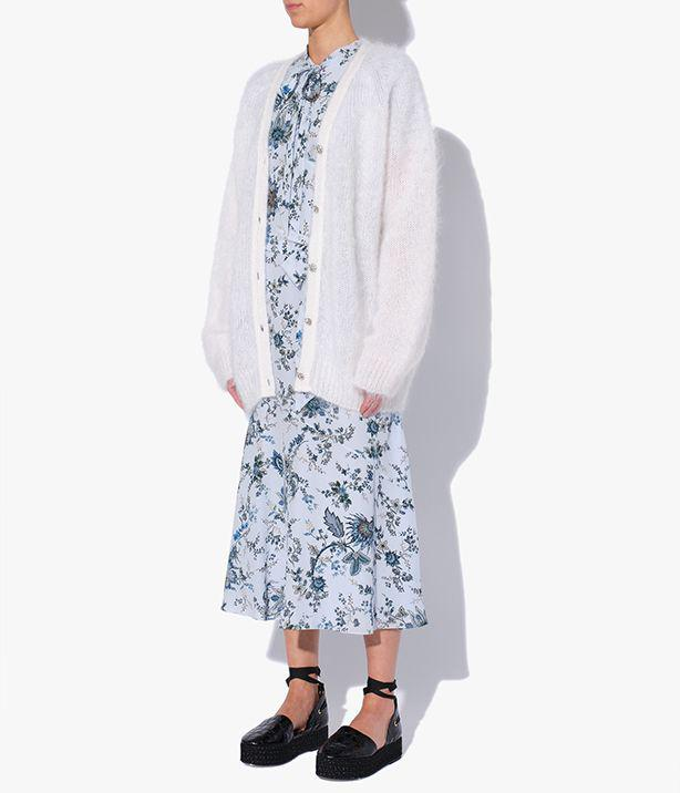 Marcilly Cardigan Mohair Knit White