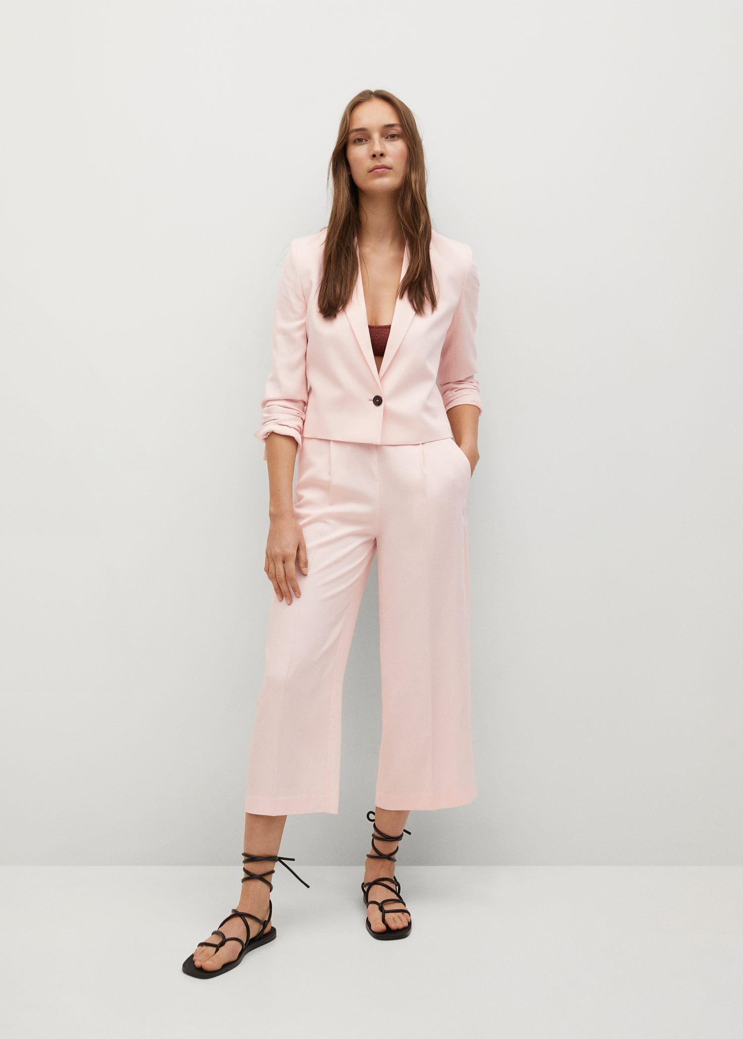 Pleated culottes pants 1