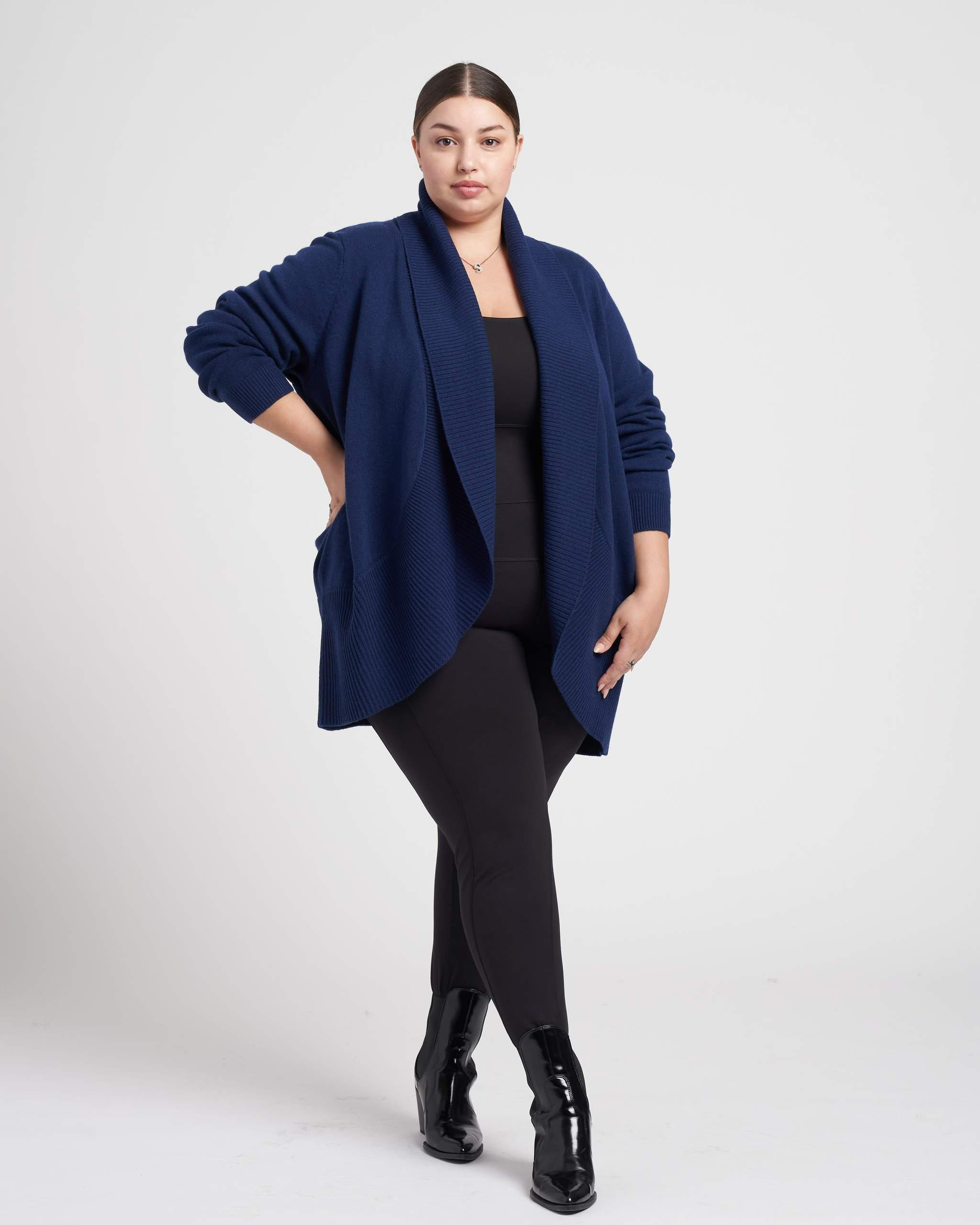 Luxe Cashmere Blend Open Cardigan