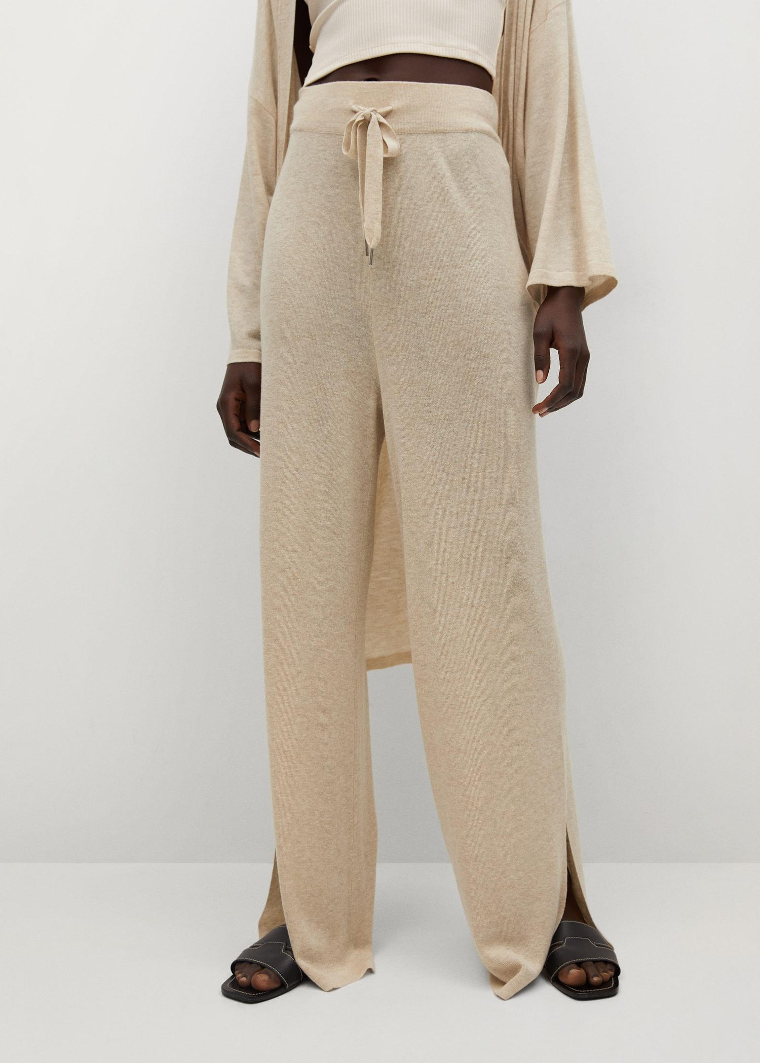 Knitted linen pants