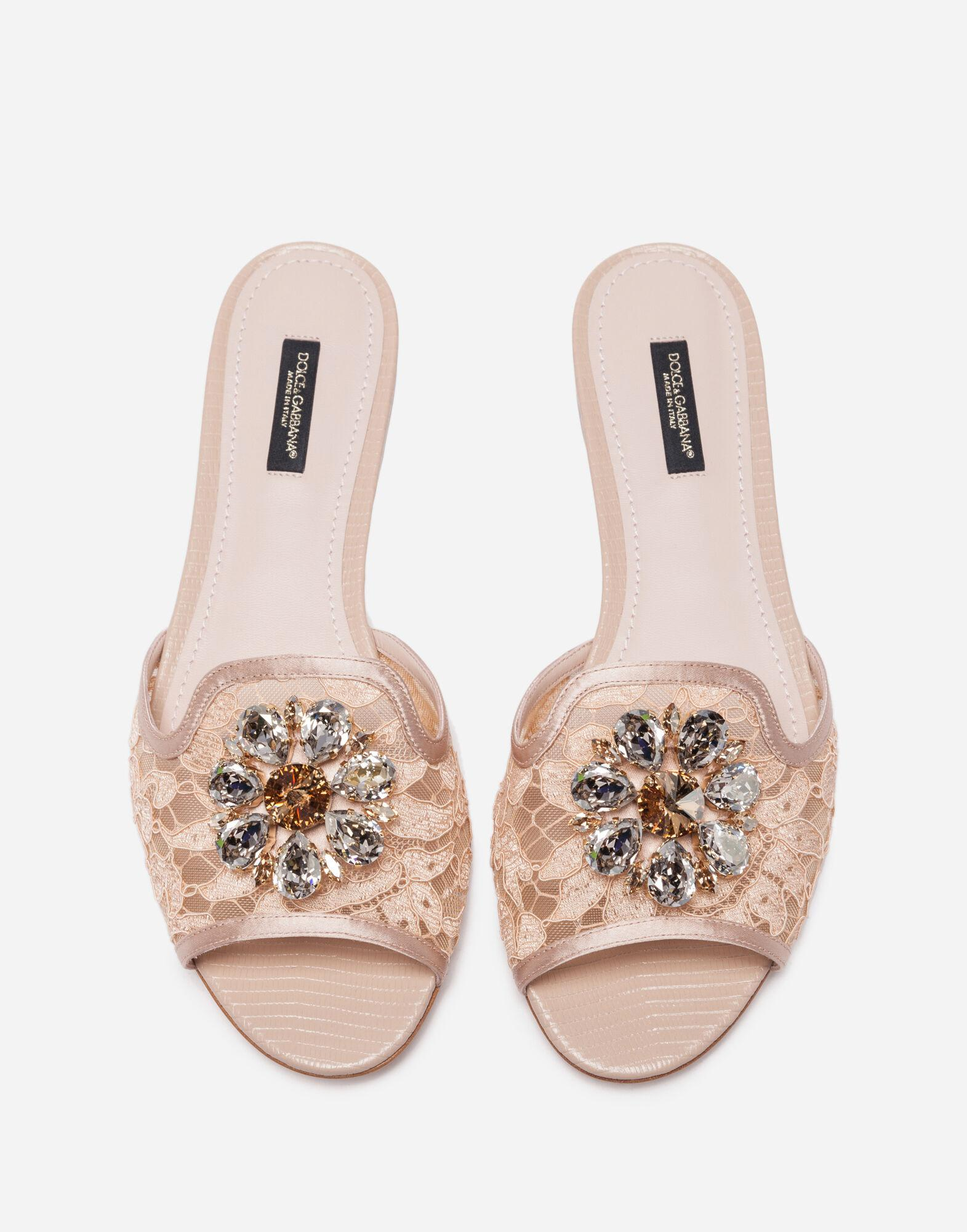 Slippers in lace with crystals 2