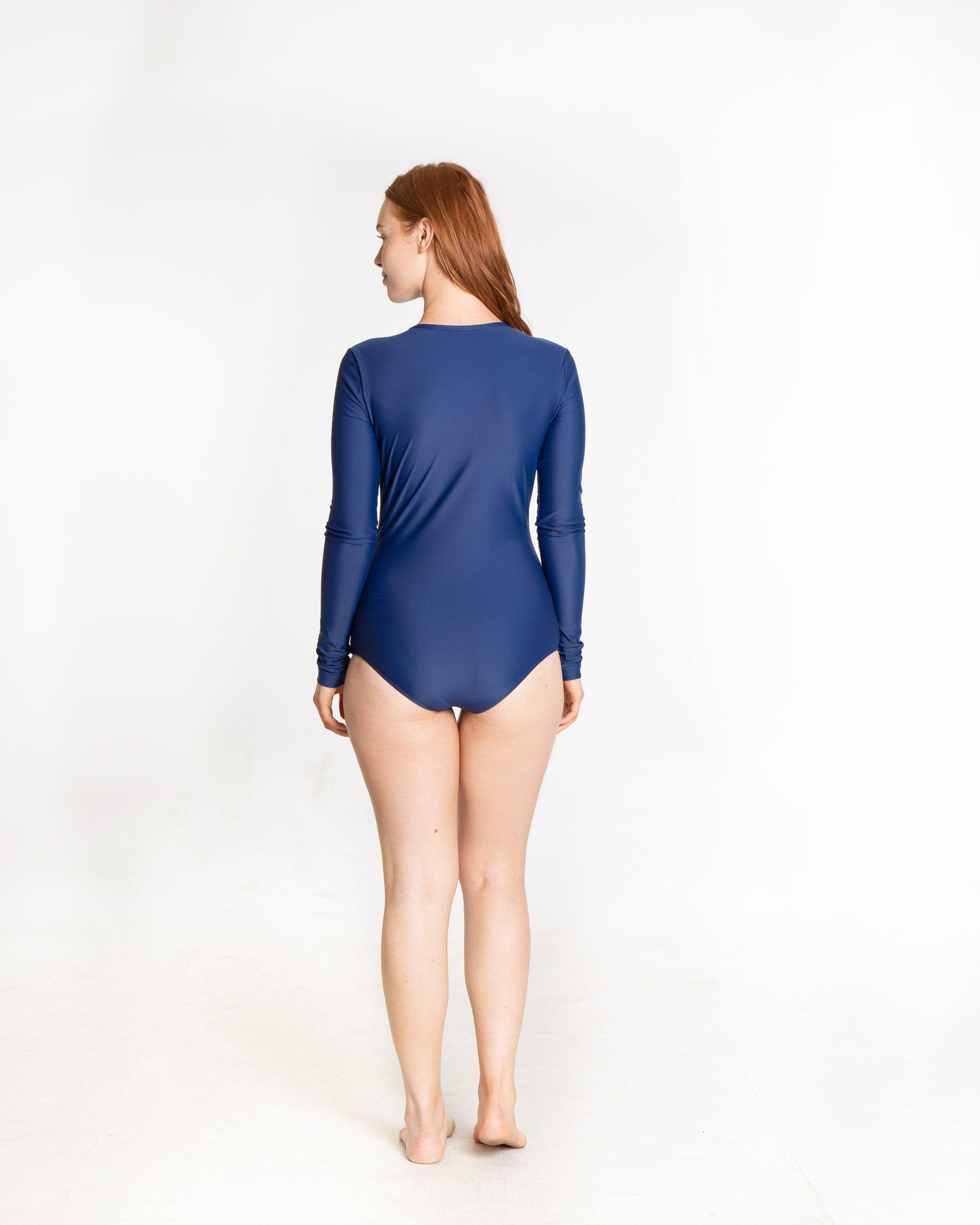 Long-Sleeved Front Zip Swimsuit 3