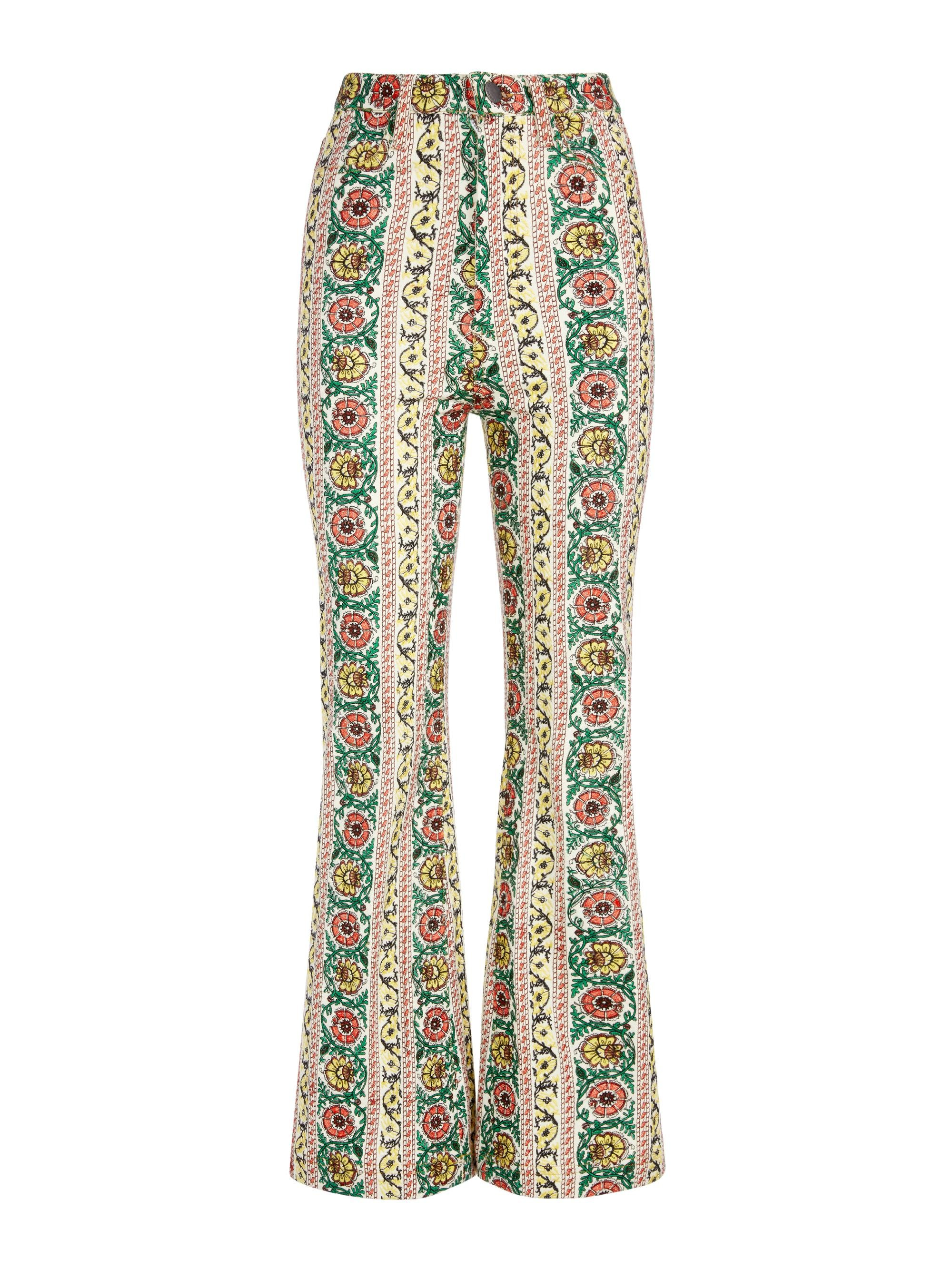 BENEDICT EMBROIDERED FLARE PANT 7