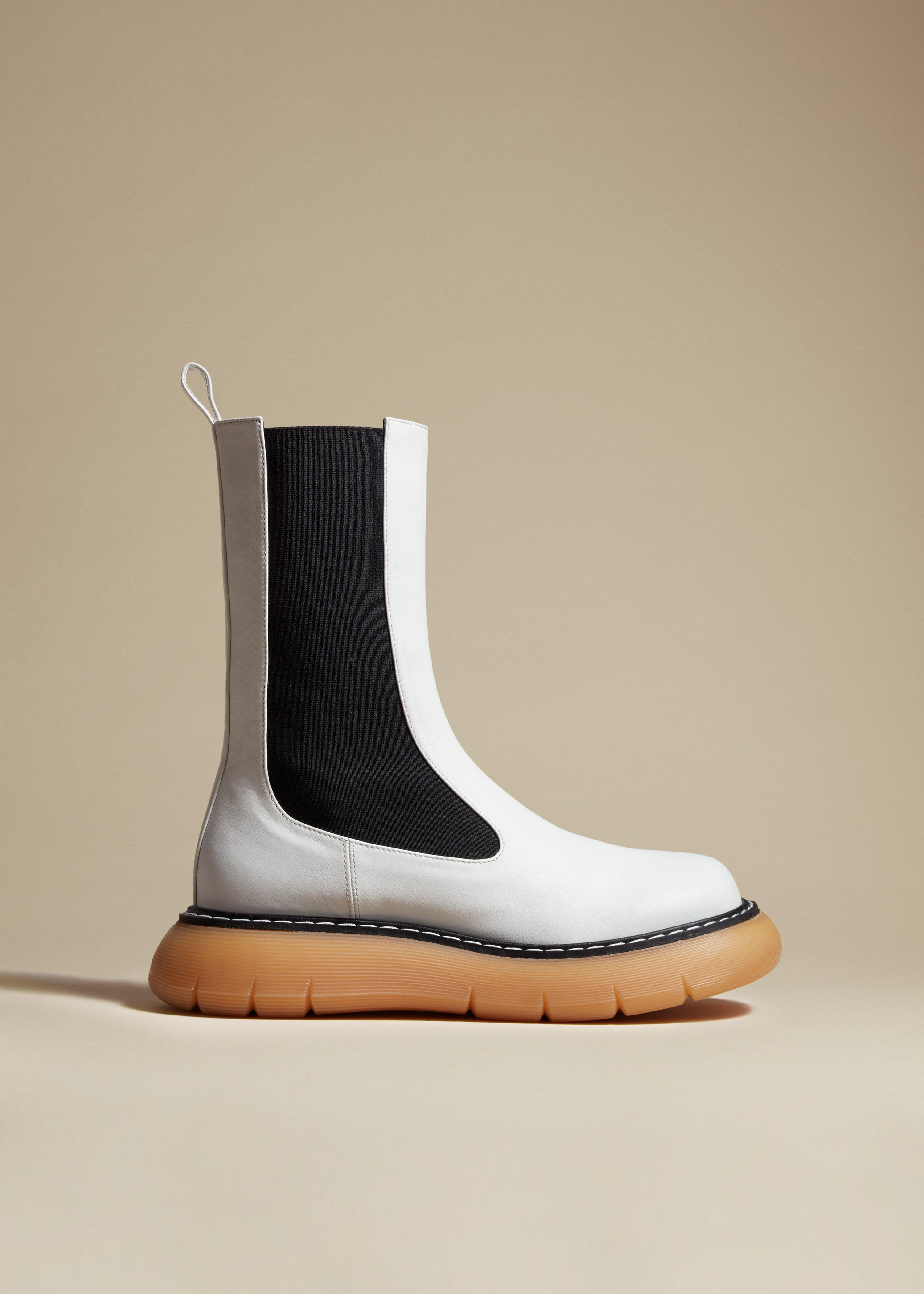 The Bleecker Boot in White Leather