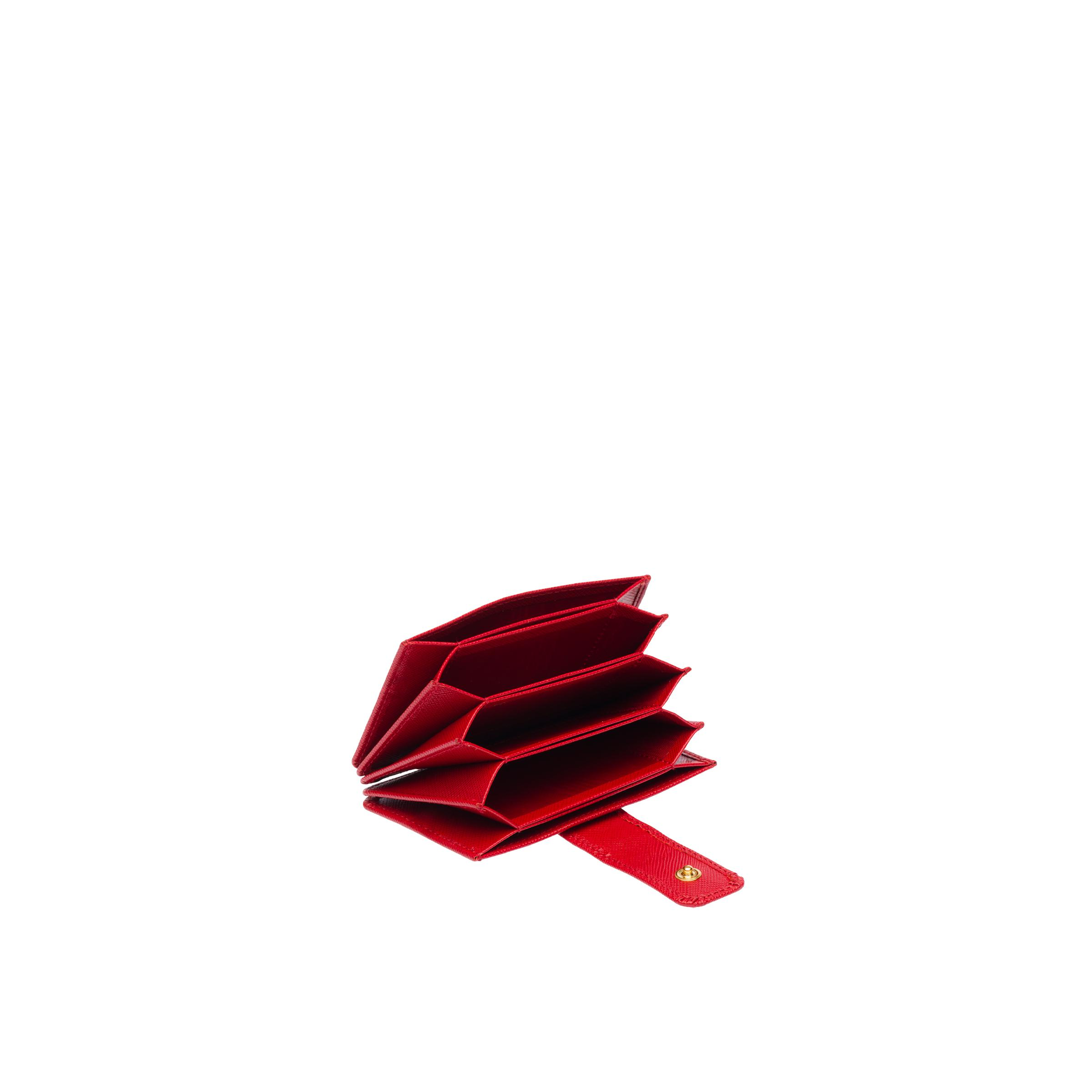 Saffiano Leather Card Holder Women Fiery Red 3