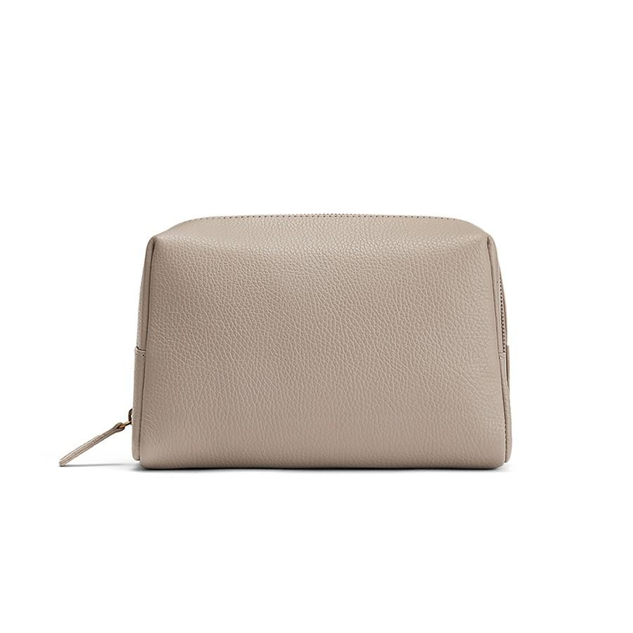 Women's Toiletry Case in Stone | Pebbled Leather by Cuyana