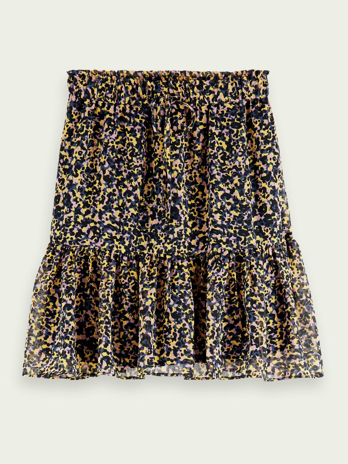 Printed recycled polyester-blend skirt 6