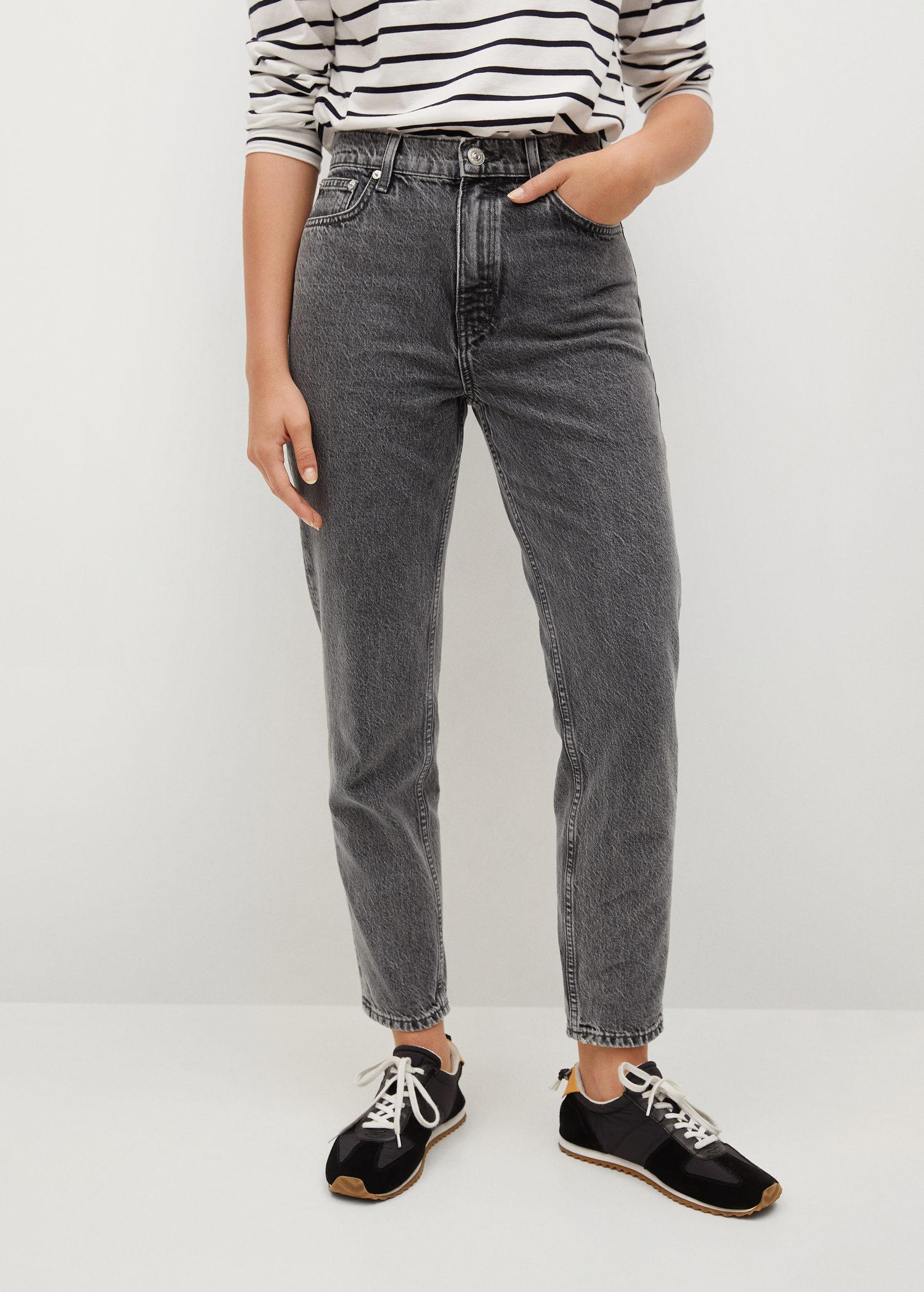 100% cotton mom-fit jeans