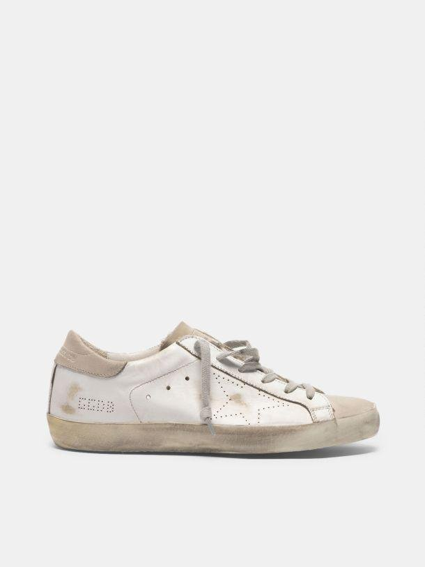 Super-Star sneakers in leather and suede with openwork star