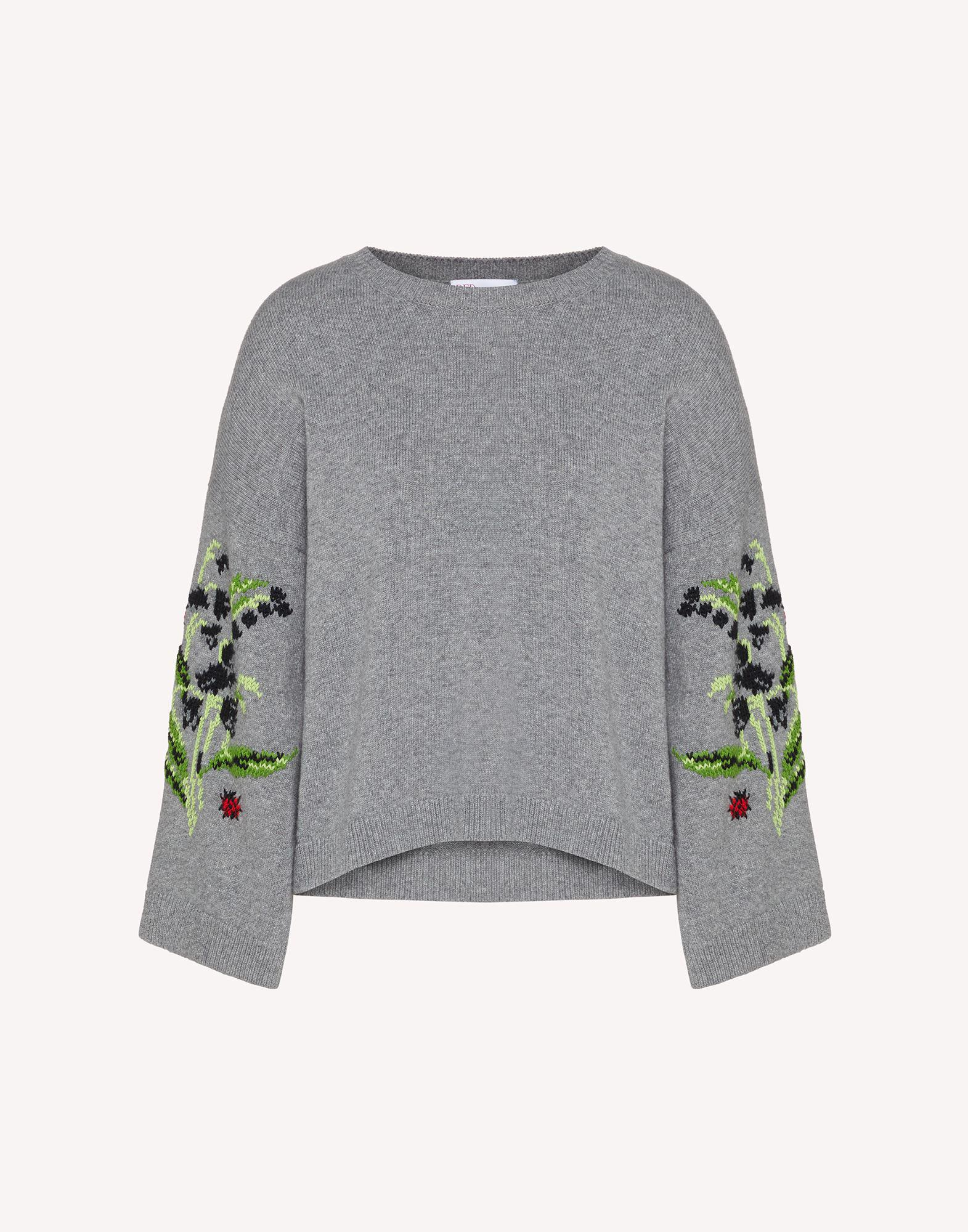 FLORAL JACQUARD WOOL-BLEND SWEATER 4