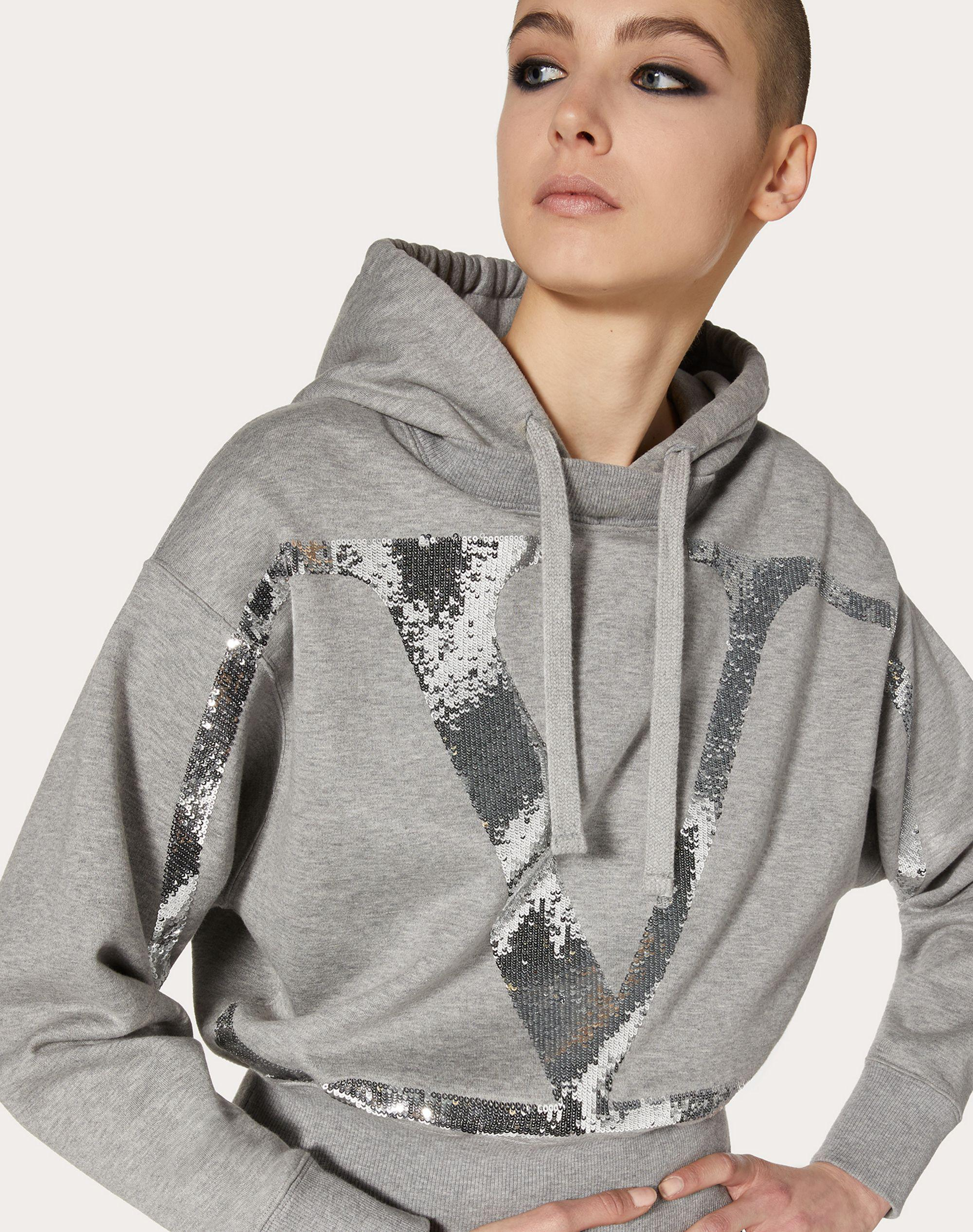 Jersey Sweatshirt with VLogo Signature Embroidery 3