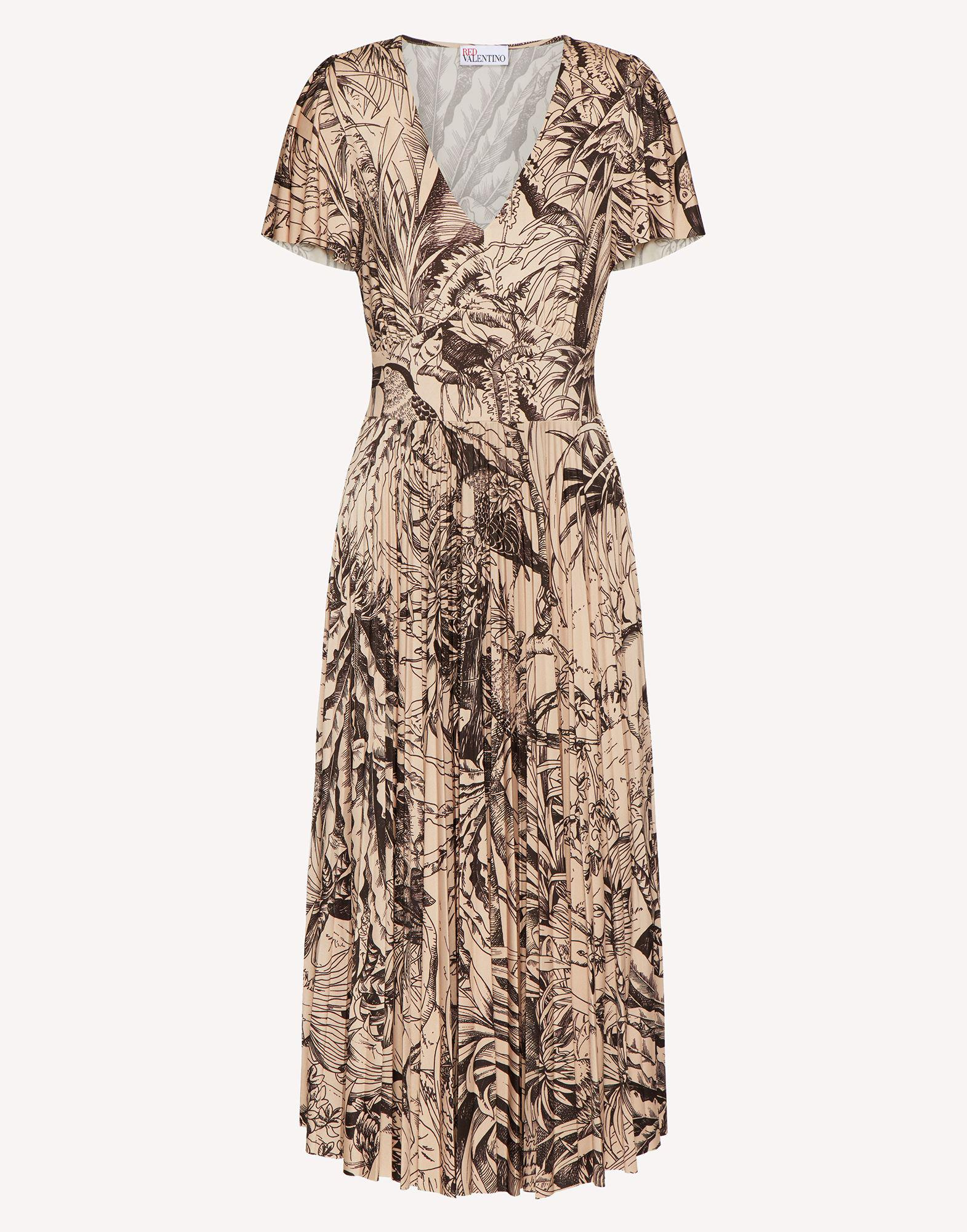 JERSEY DRESS WITH JUNGLE TOILE PRINT 4