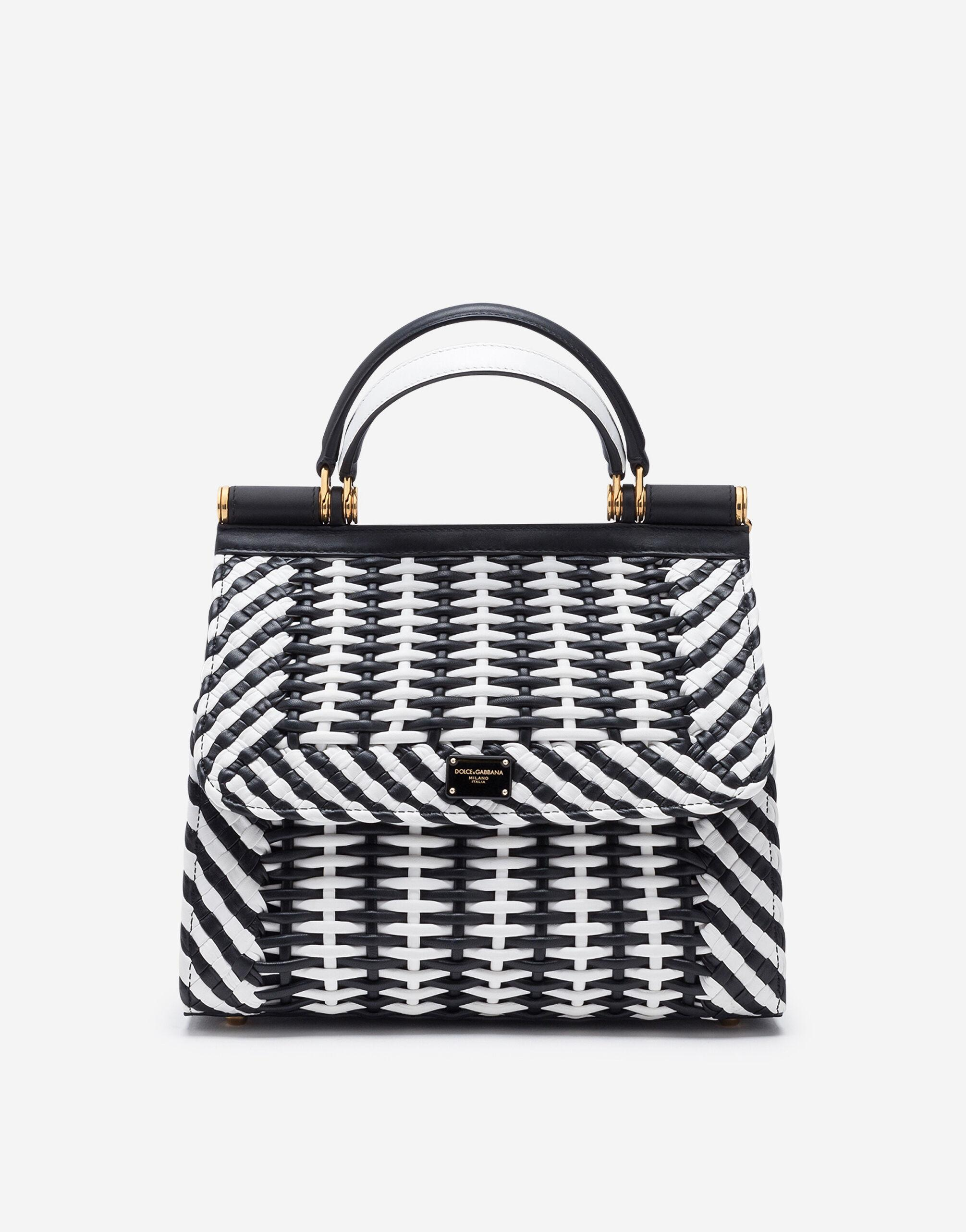 Medium Sicily 58 bag in woven nappa leather
