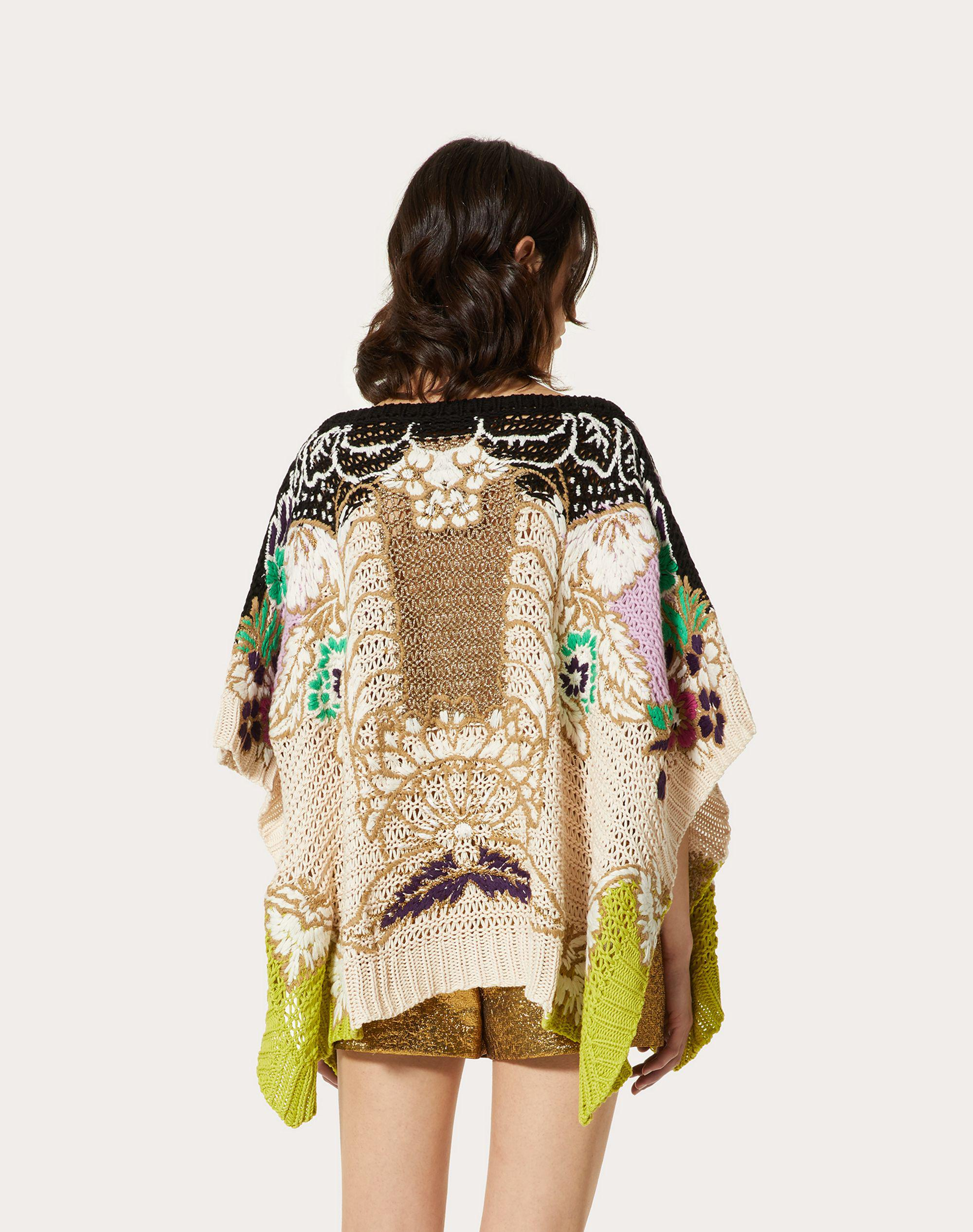 EMBROIDERED SWEATER IN COTTON LUREX WOOL 2