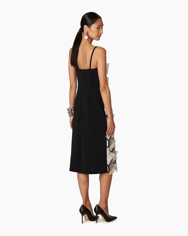 Embroidered Chain and Fan Midi Dress 1