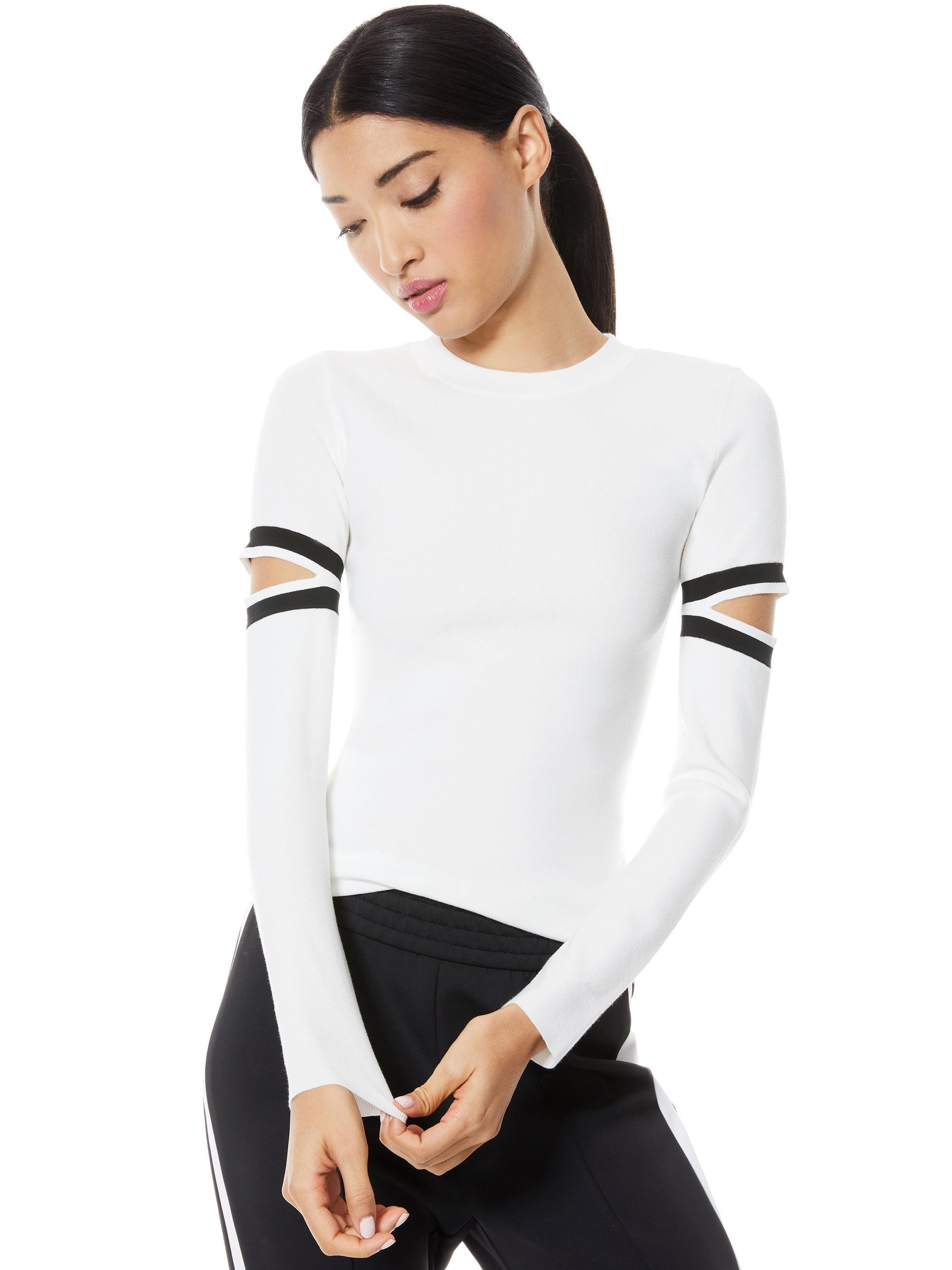 JAZI CUT OUT SLEEVE PULLOVER