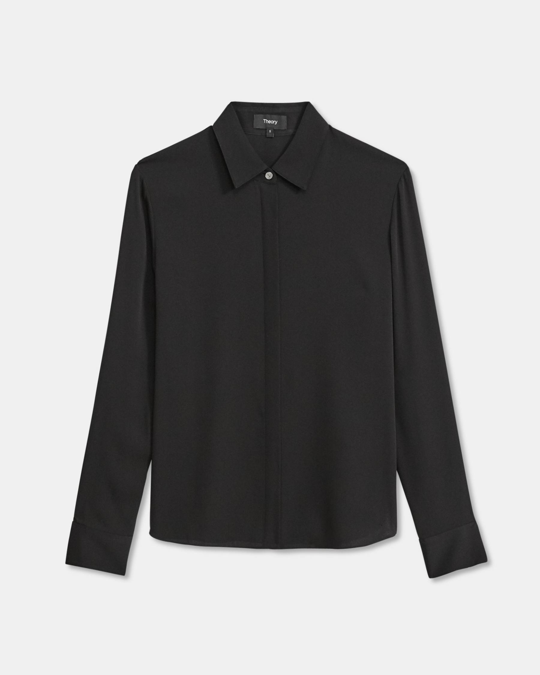 Fitted Shirt in Stretch Silk 5