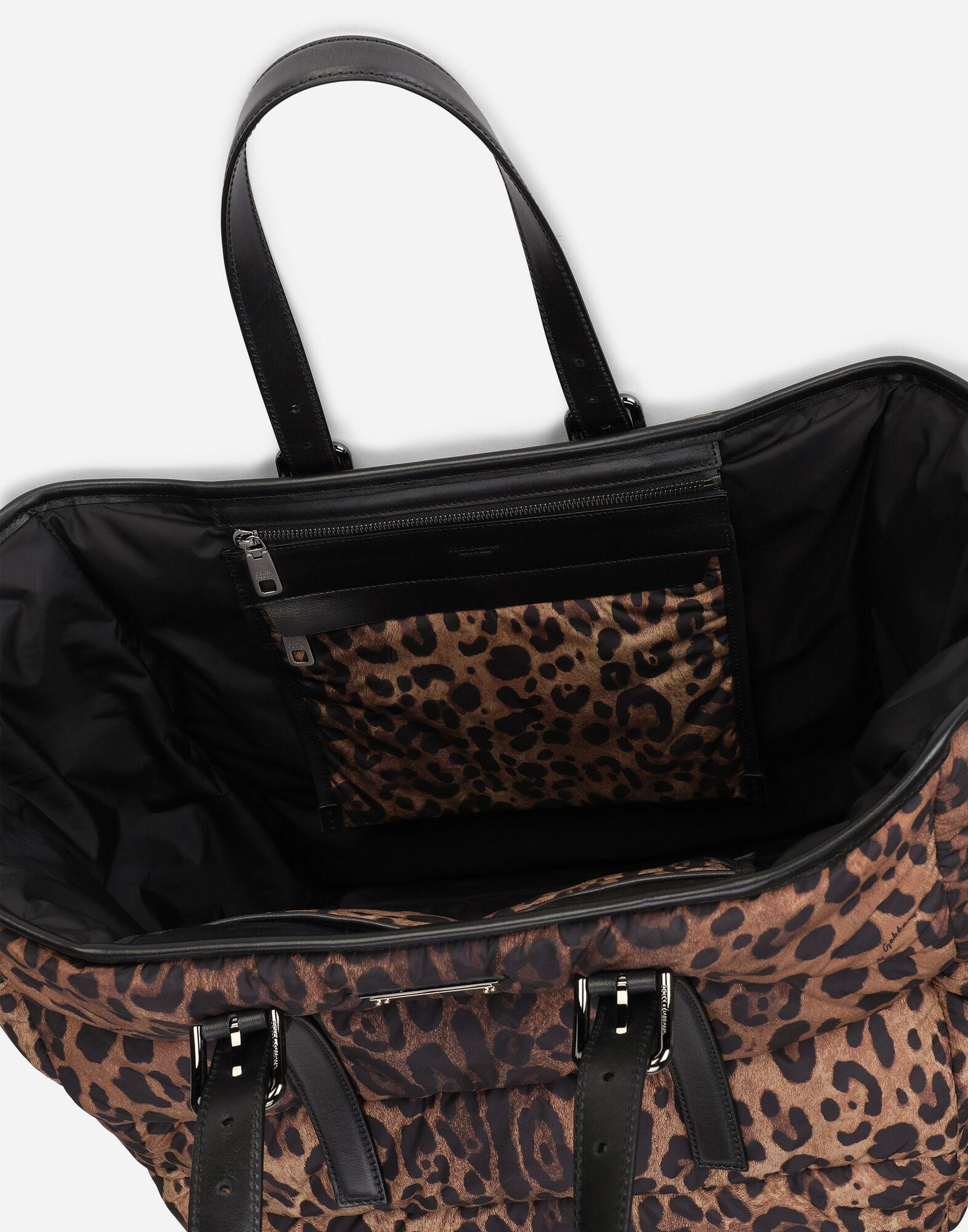 Leopard-print Sicily shopper in quilted nylon 3