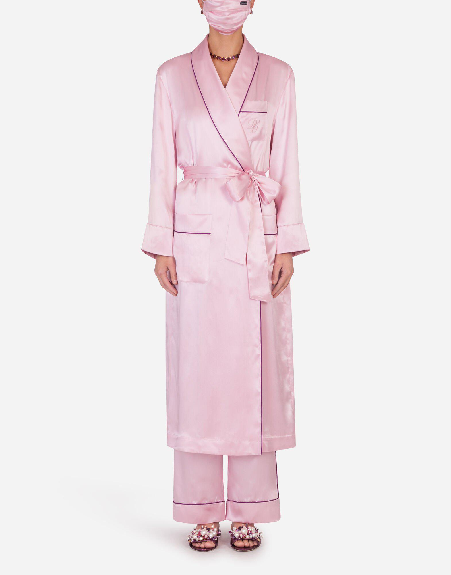 Silk robe with matching face mask