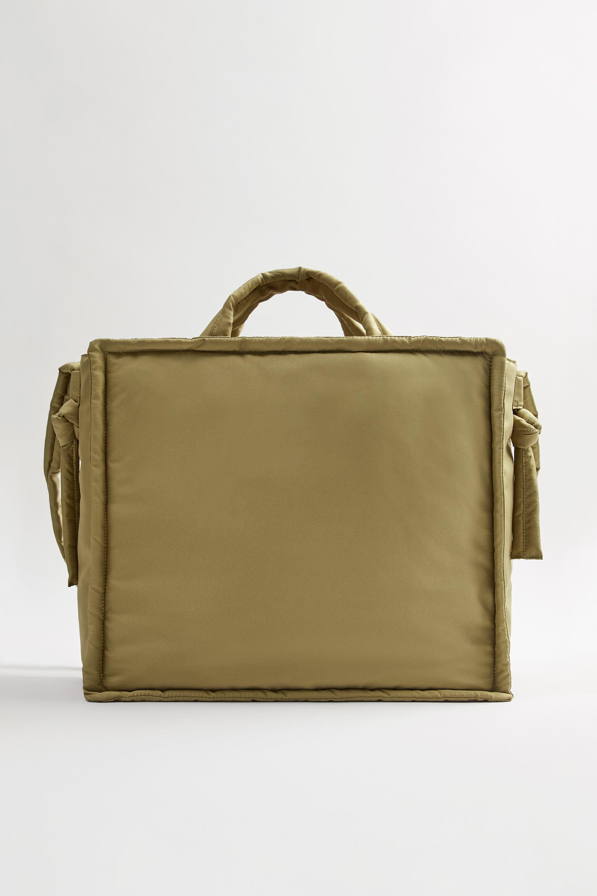 QUILTED NYLON SHOPPER