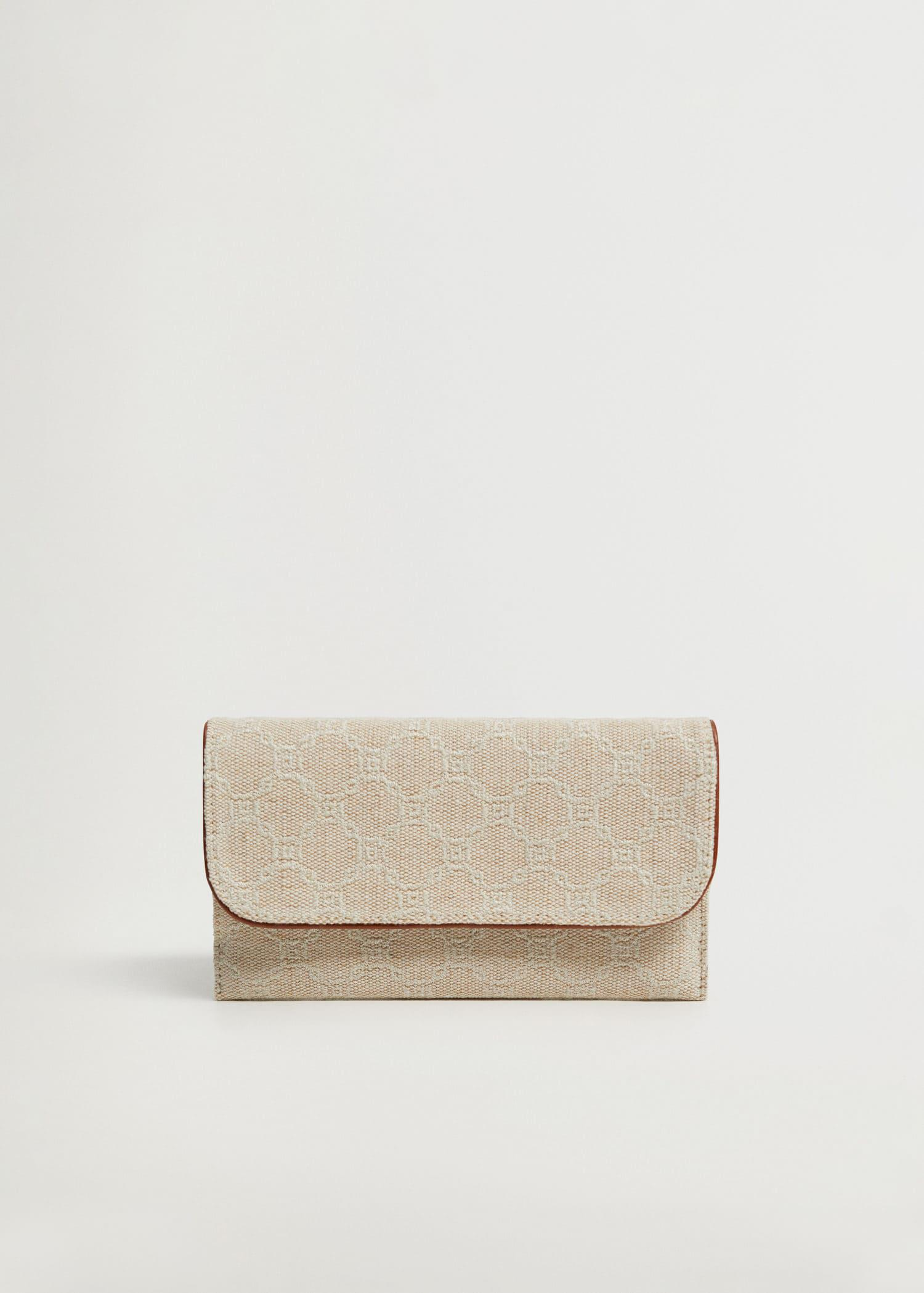 Jute wallet with chain