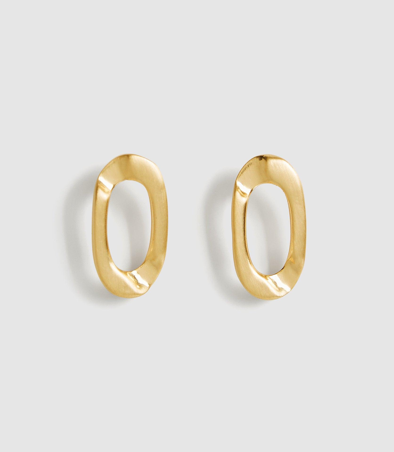 LEXI - BRUSHED GOLD PLATED EARRINGS