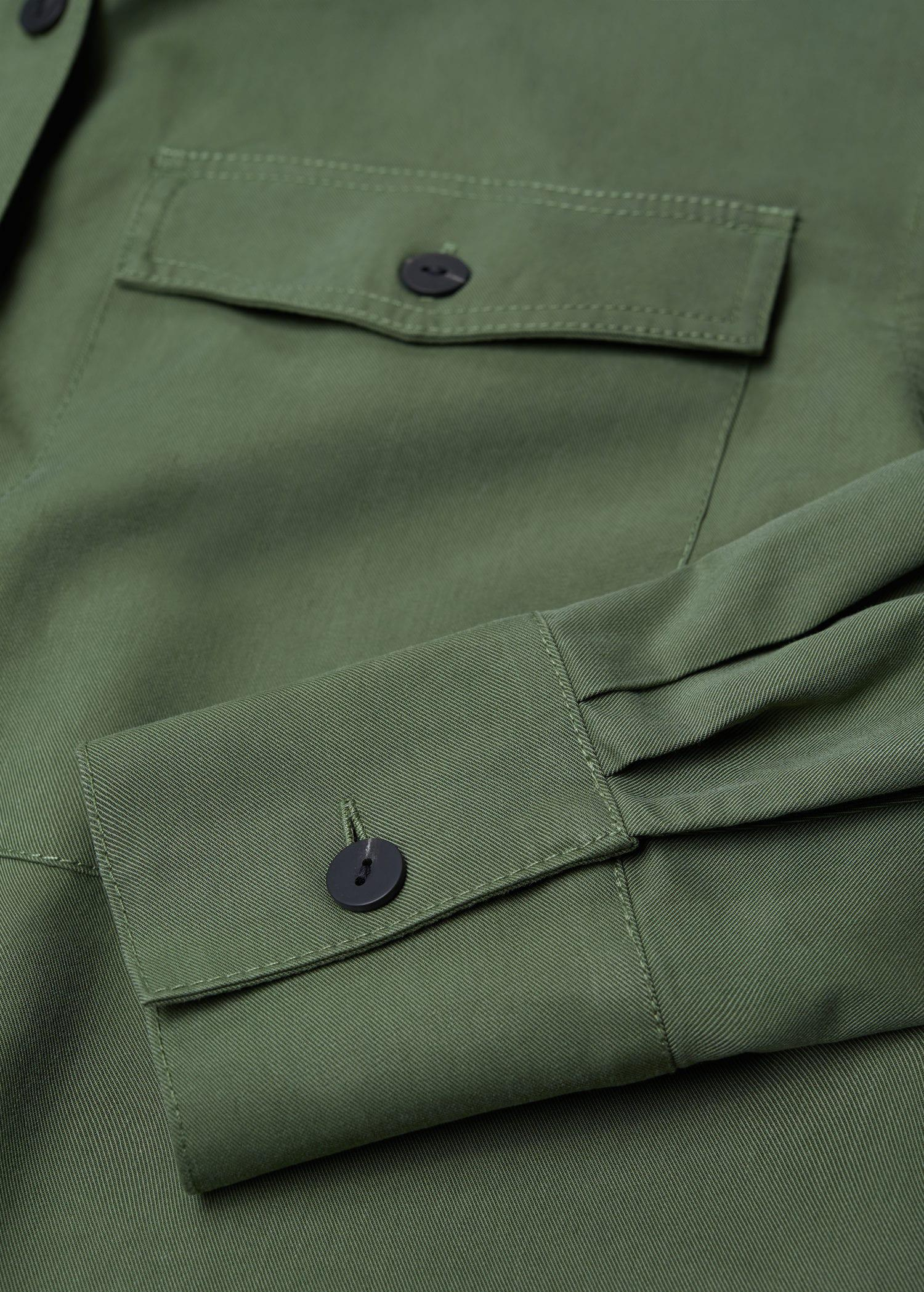 Cropped cotton overshirt 7