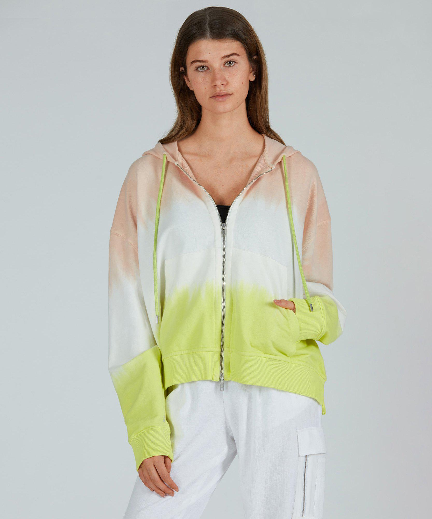 French Terry Zip Up Hoodie - Shell Combo Dip Dye