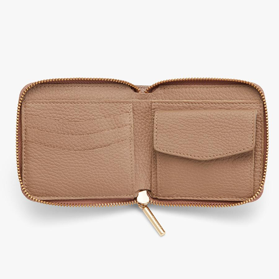 Women's Small Classic Zip Around Wallet in Soft Rose | Pebbled Leather by Cuyana 2