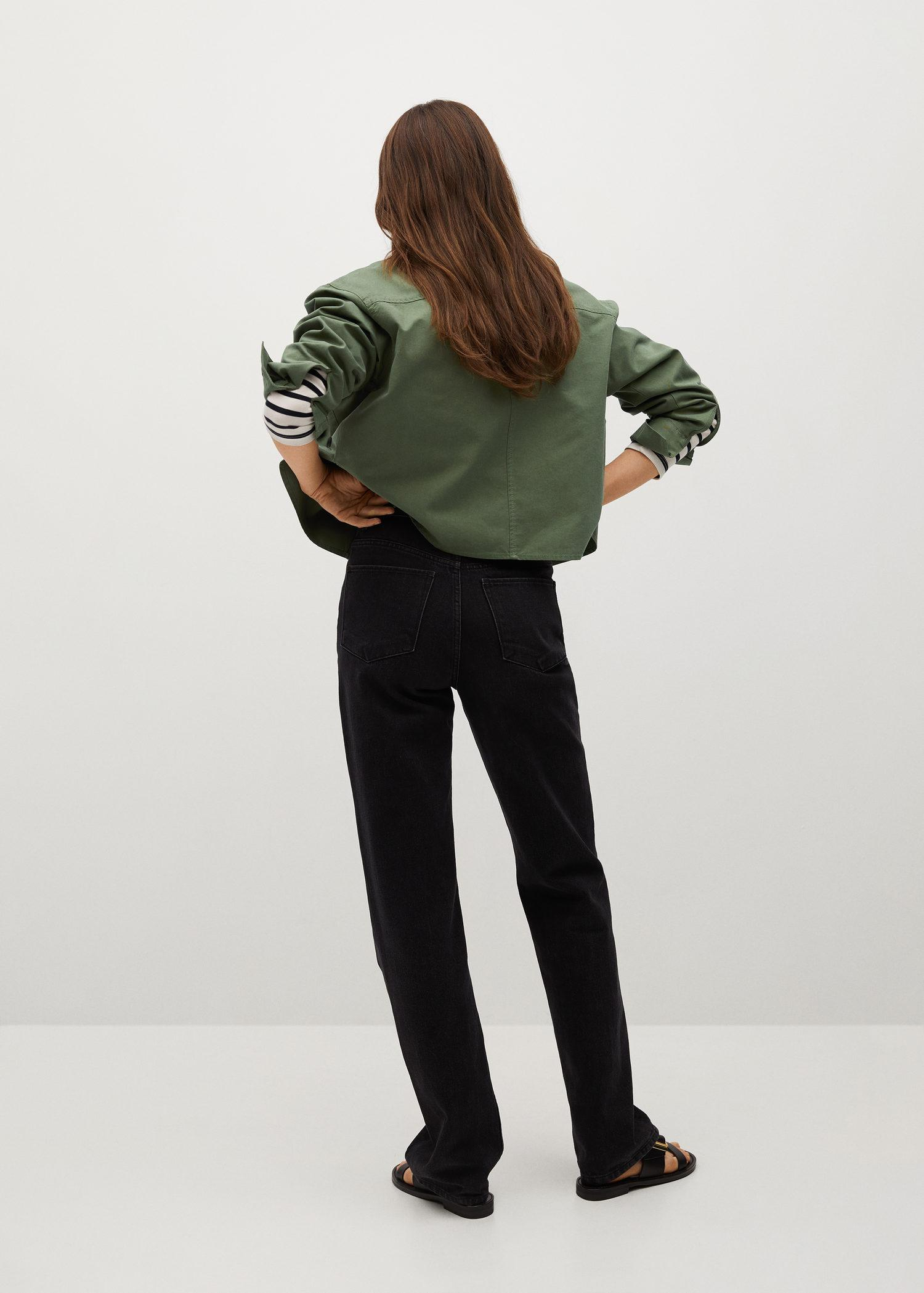 Cropped cotton overshirt 2