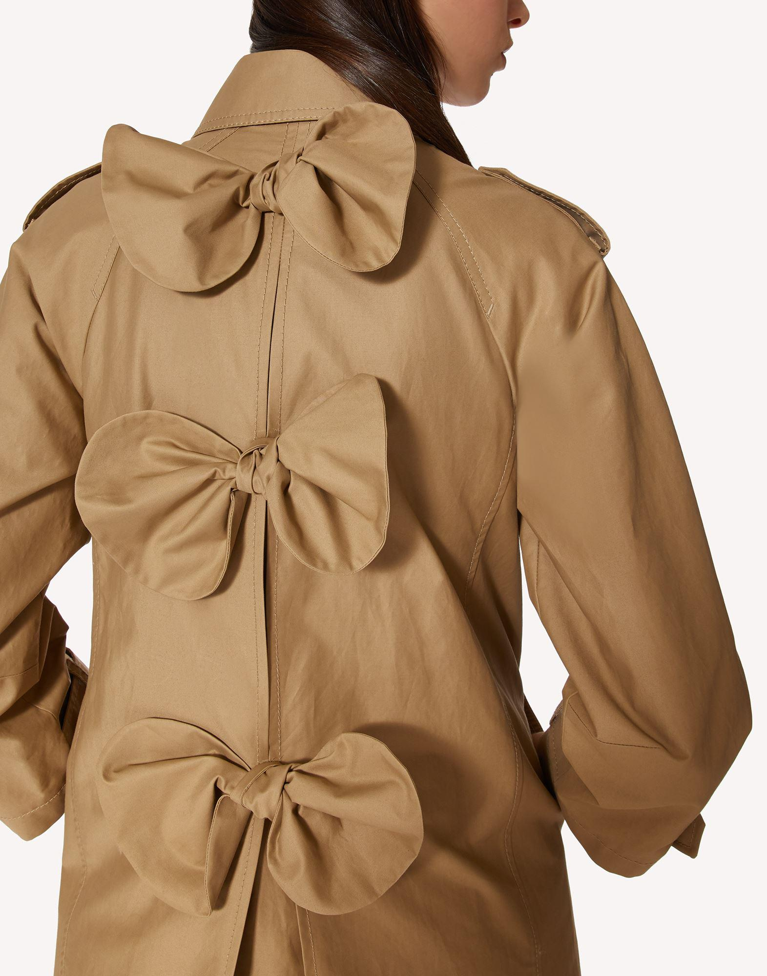 GABARDINE TRENCH COAT WITH BOW DETAILS 4