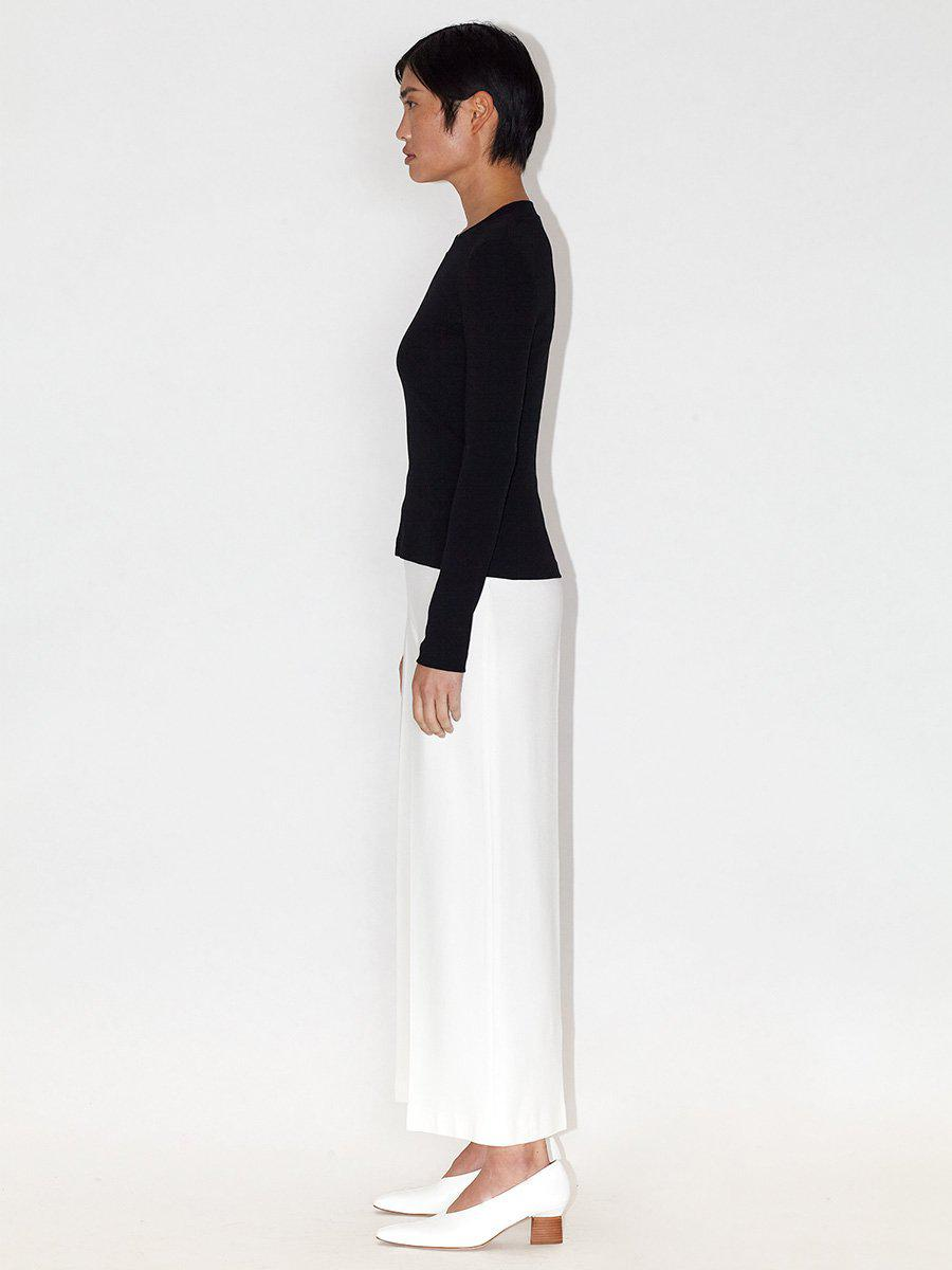 Pull On Cropped Straight Trousers 1