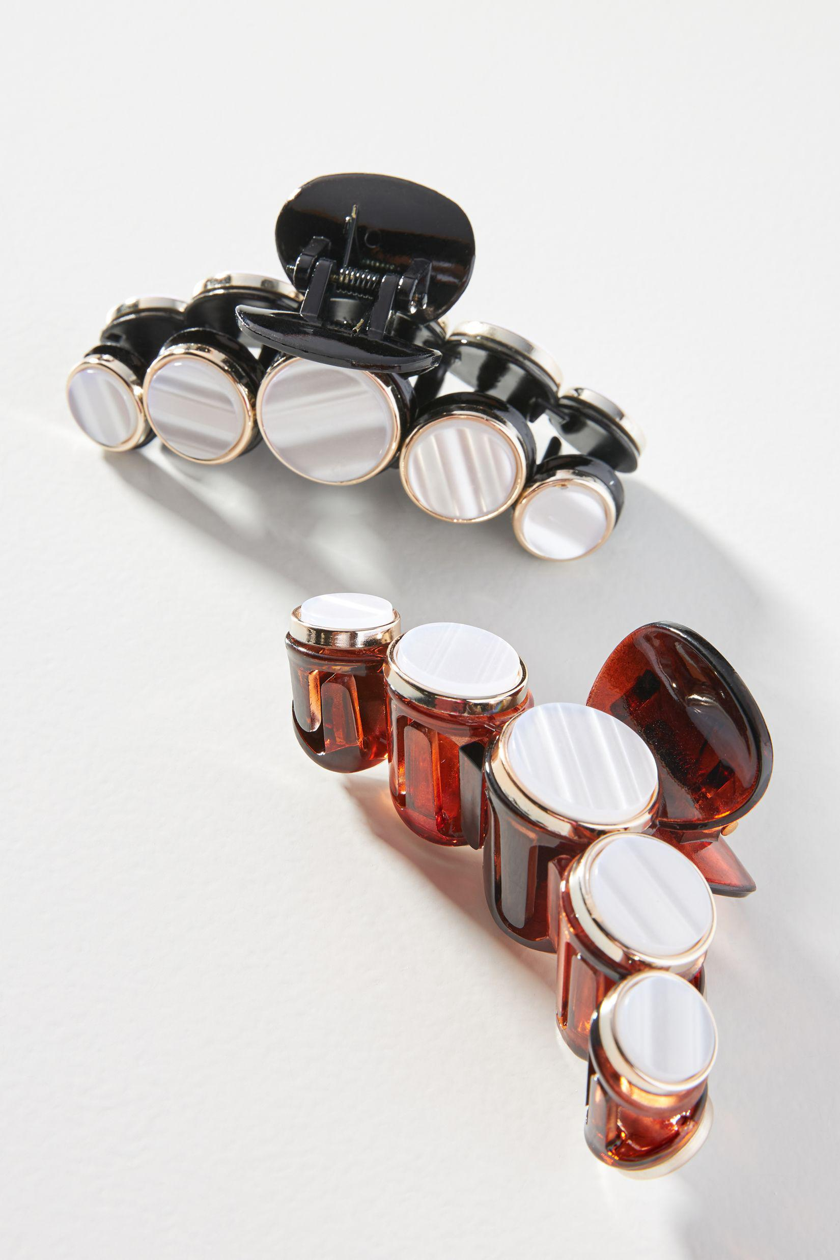 Bauble-Embellished Claw Hair Clip Set
