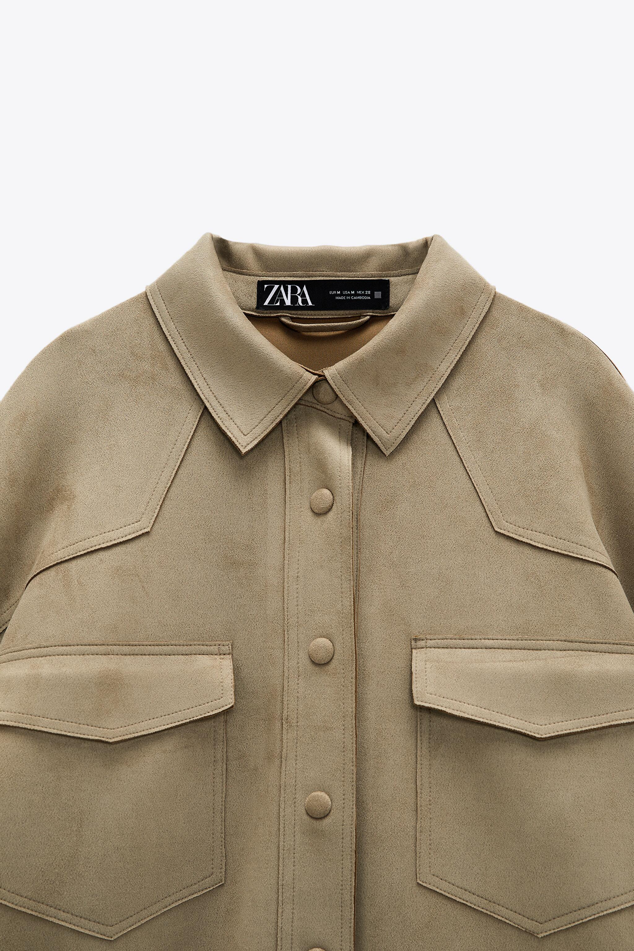 FAUX SUEDE OVERSHIRT 2