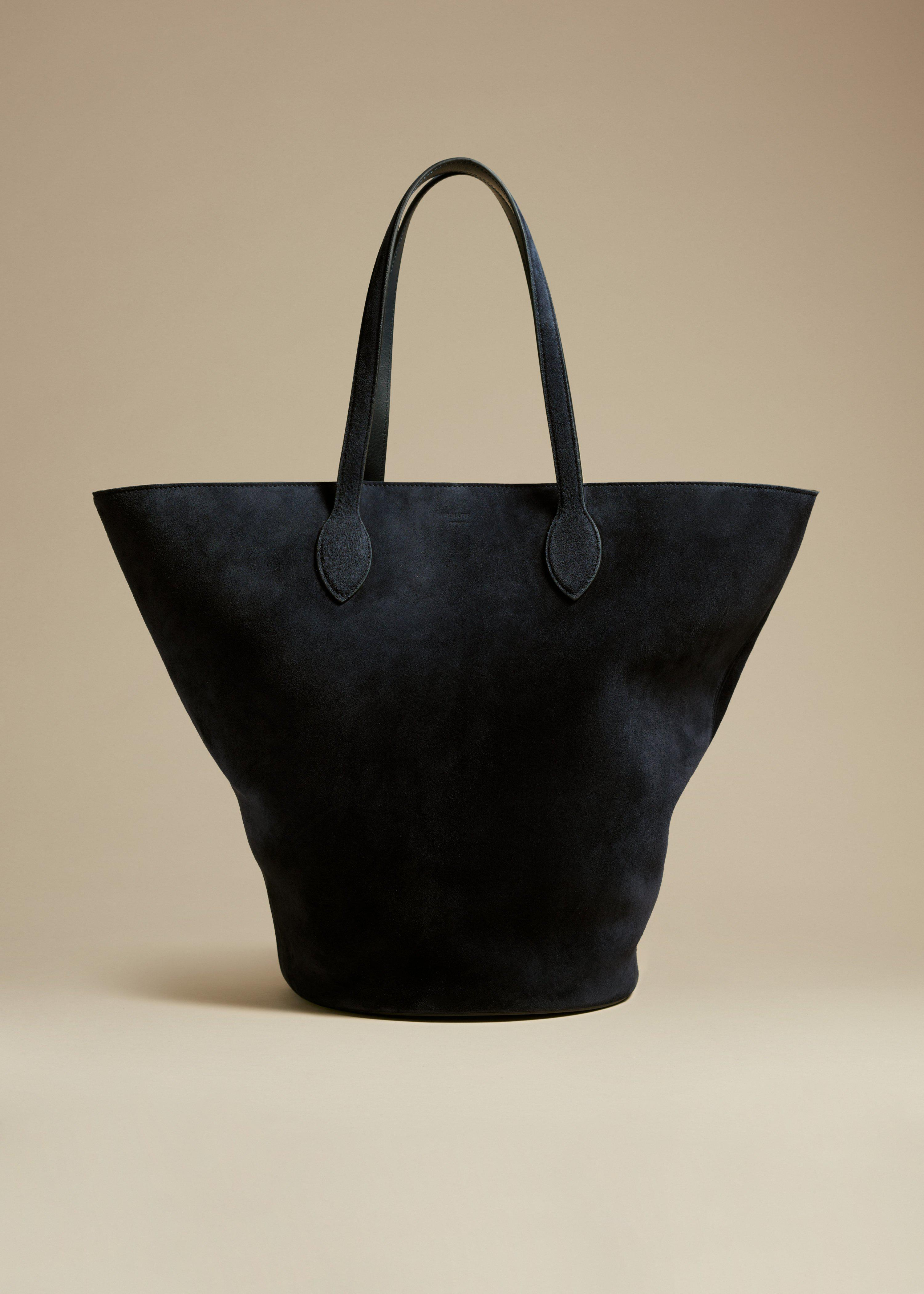 The Medium Osa Tote in Navy Suede
