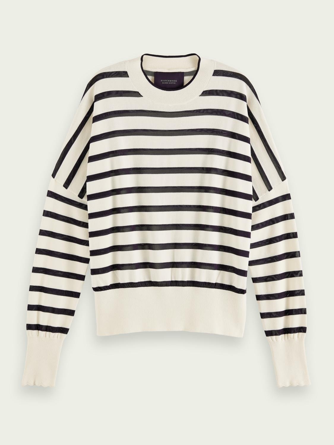 Knitted cotton-blend sweater 3