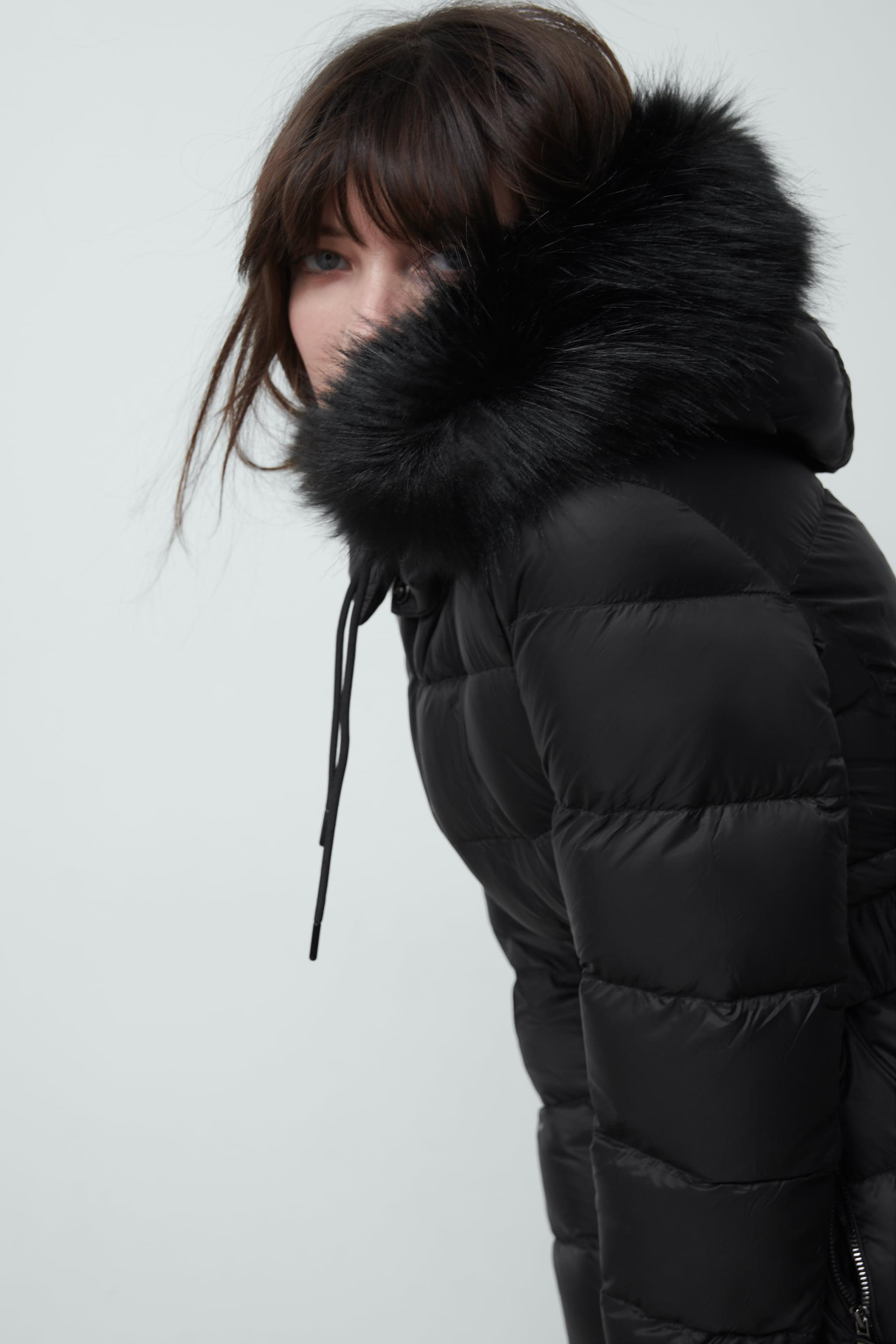 DOWN JACKET WITH FAUX FUR HOOD 3